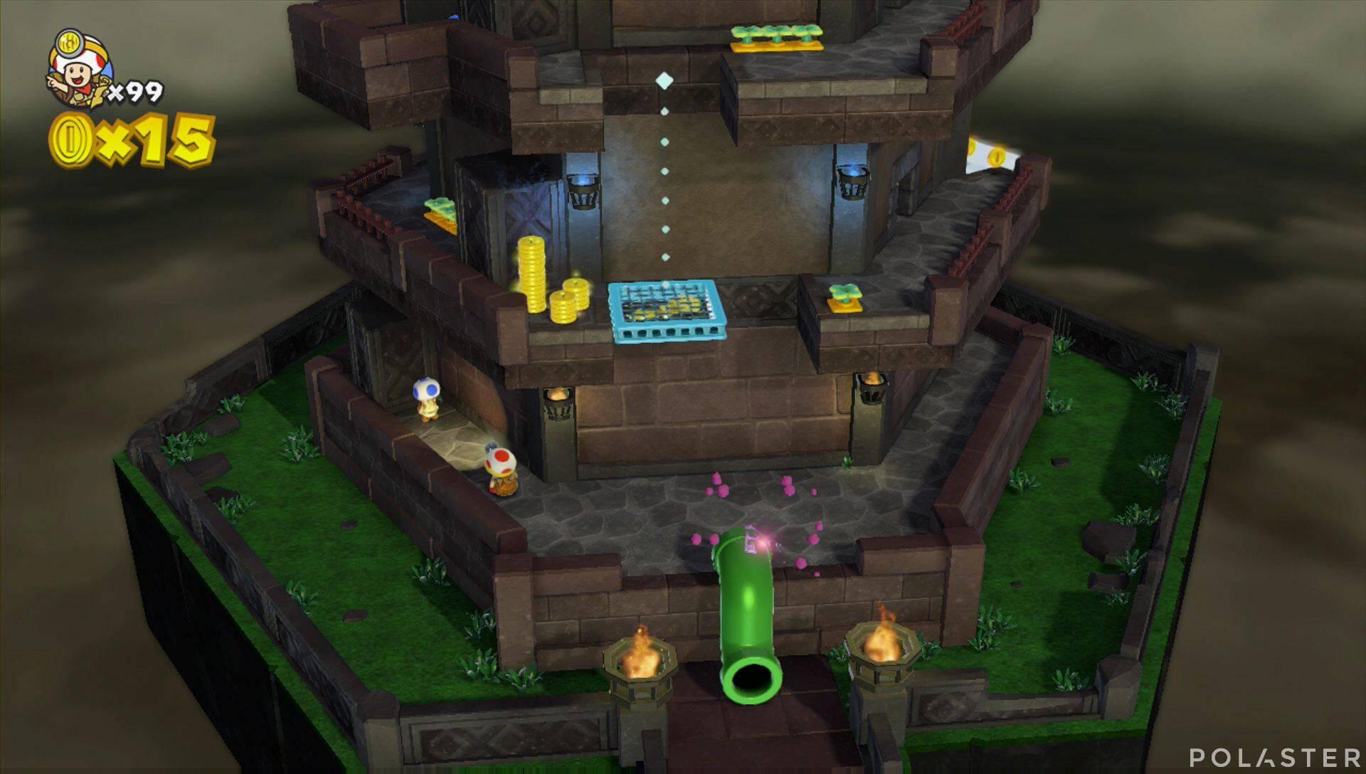 Captain Toad: Treasure Tracker Extra: ¡Cuadrilla, a la torre insólita! Toad azul