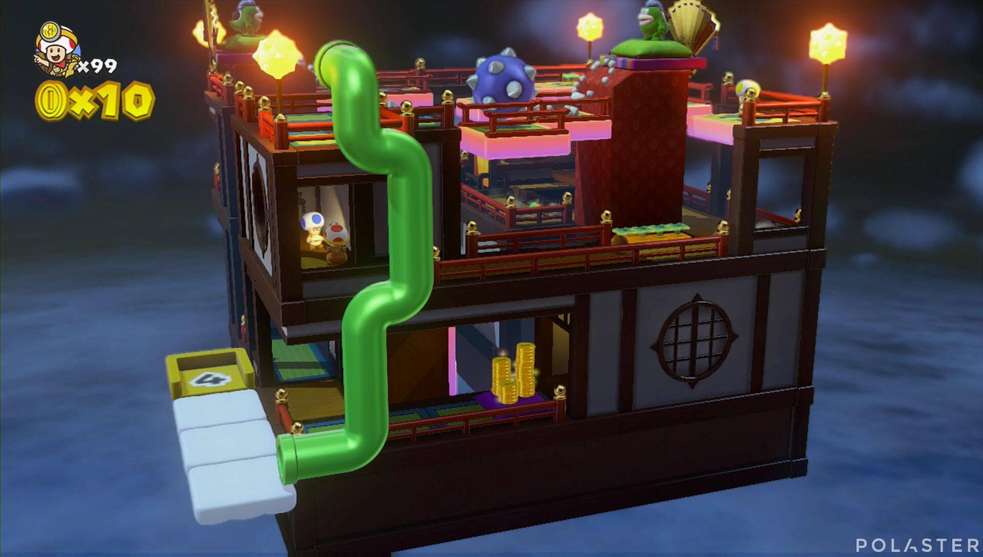 Captain Toad: Treasure Tracker Extra: ¡Cuadrilla, a los tejados! Toad azul