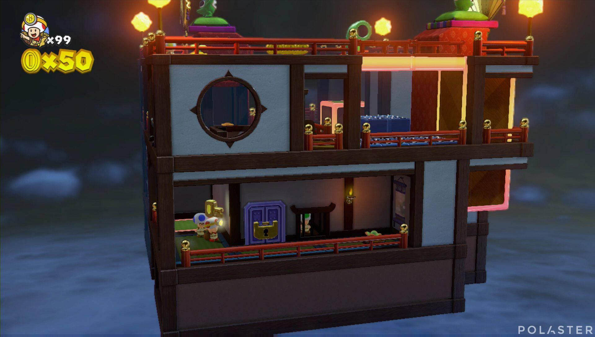 Captain Toad: Treasure Tracker Extra: ¡Cuadrilla, a los tejados! Toad verde