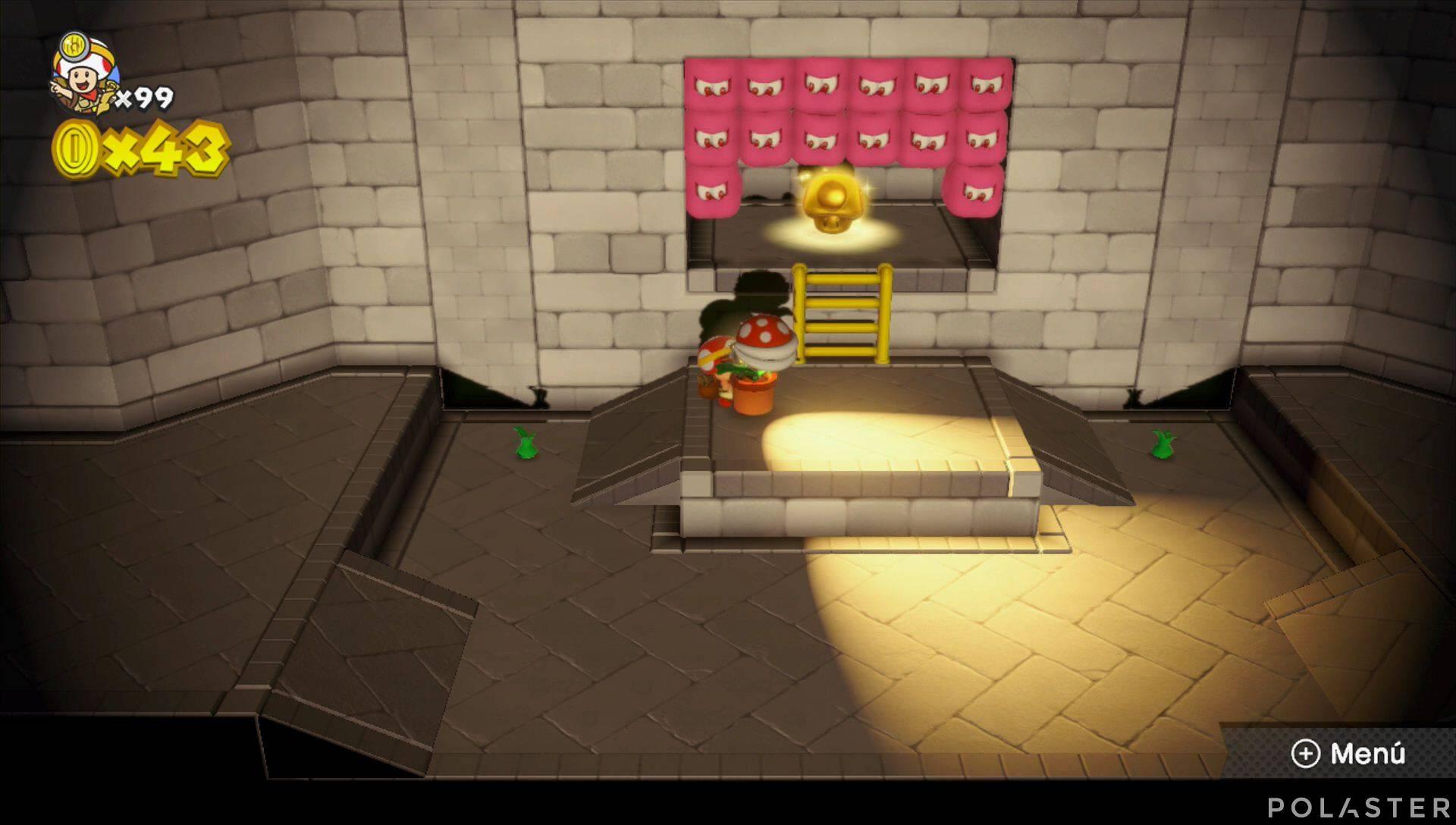 Captain Toad: Treasure Tracker Extra: El callejón de las sombras Champiñón dorado