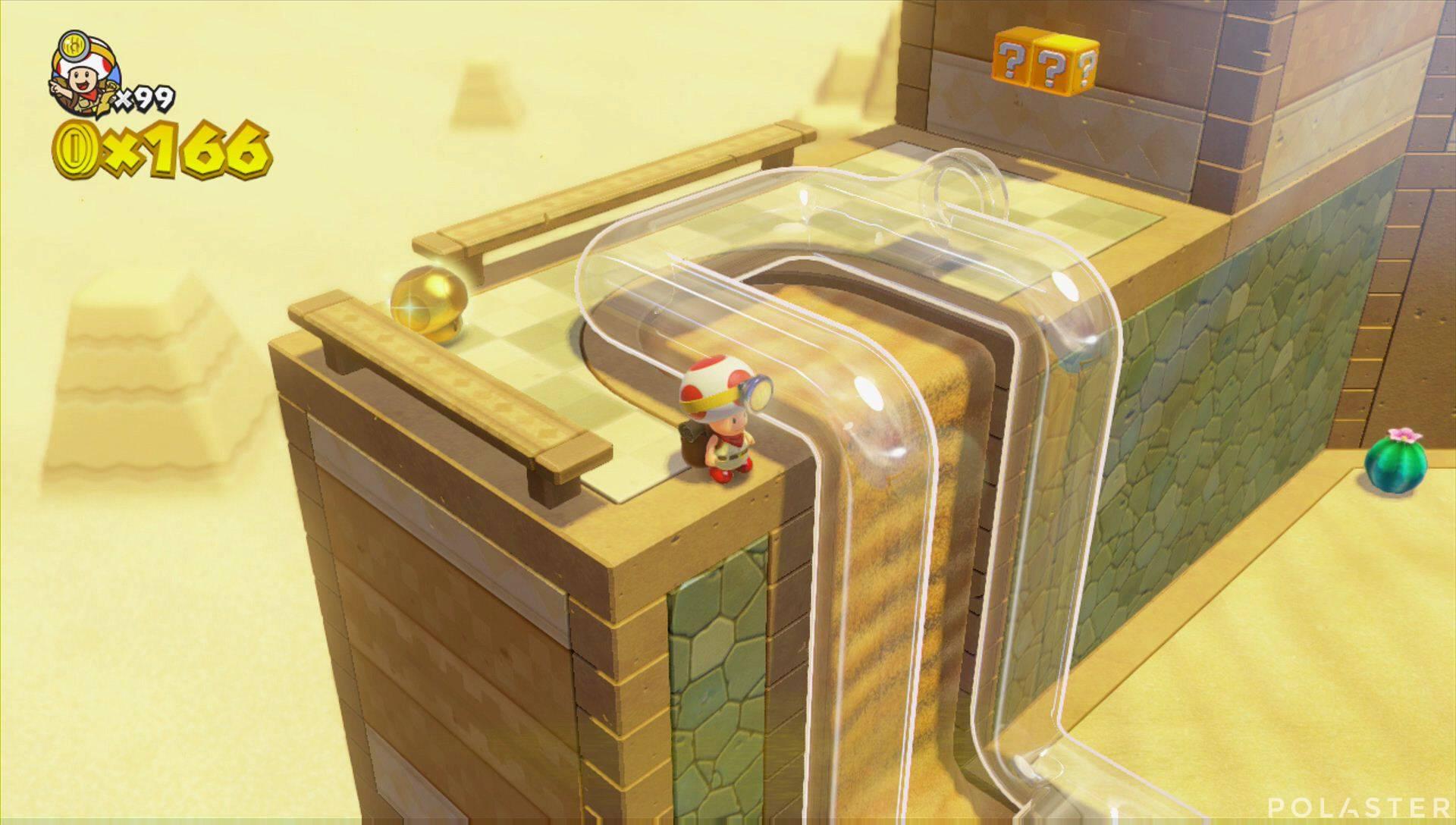 Captain Toad: Treasure Tracker Extra: El desierto de los Picacóndores Champiñón dorado