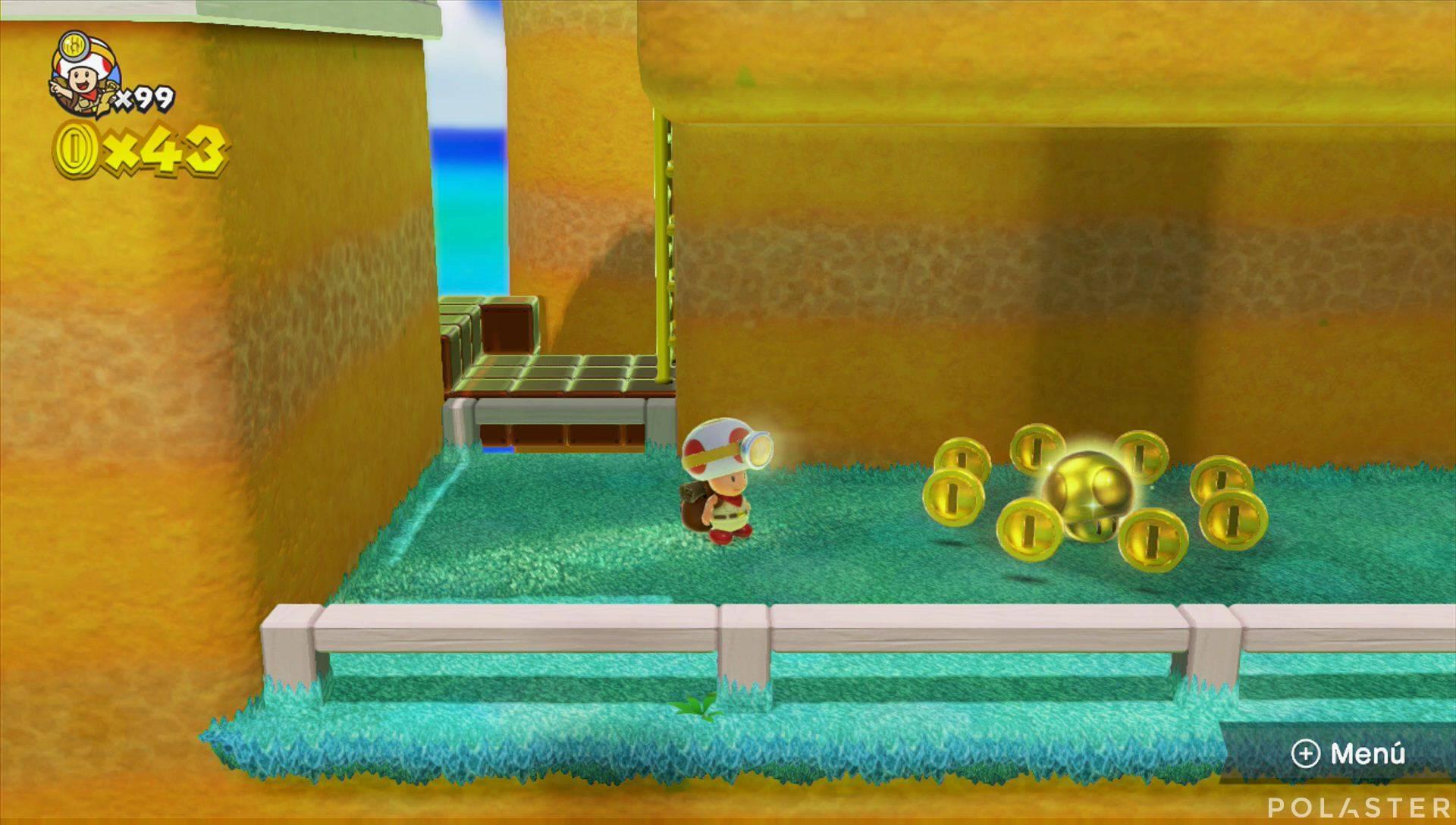 Captain Toad: Treasure Tracker Extra La colina de la supercampana felina Champiñón dorado