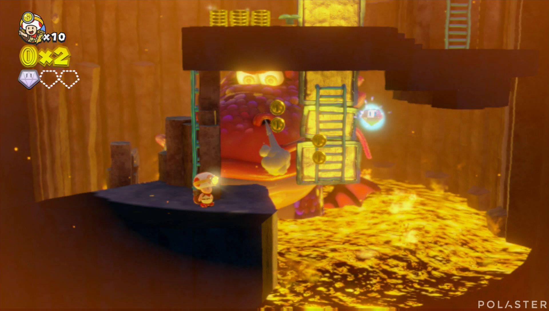 Captain Toad: Treasure Tracker Parte 1 Nivel 10 Superdiamante 2