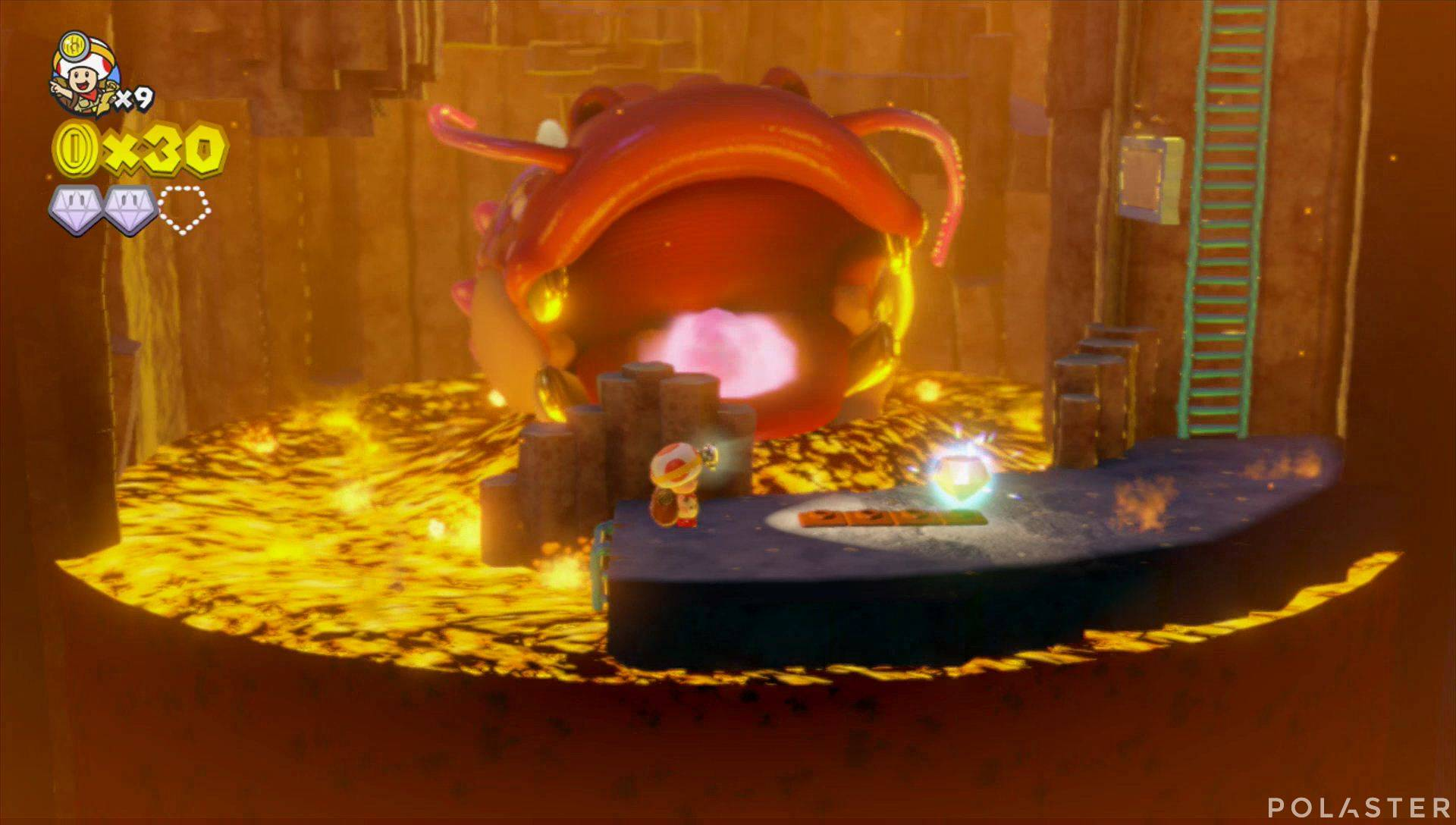 Captain Toad: Treasure Tracker Parte 1 Nivel 10 Superdiamante 3