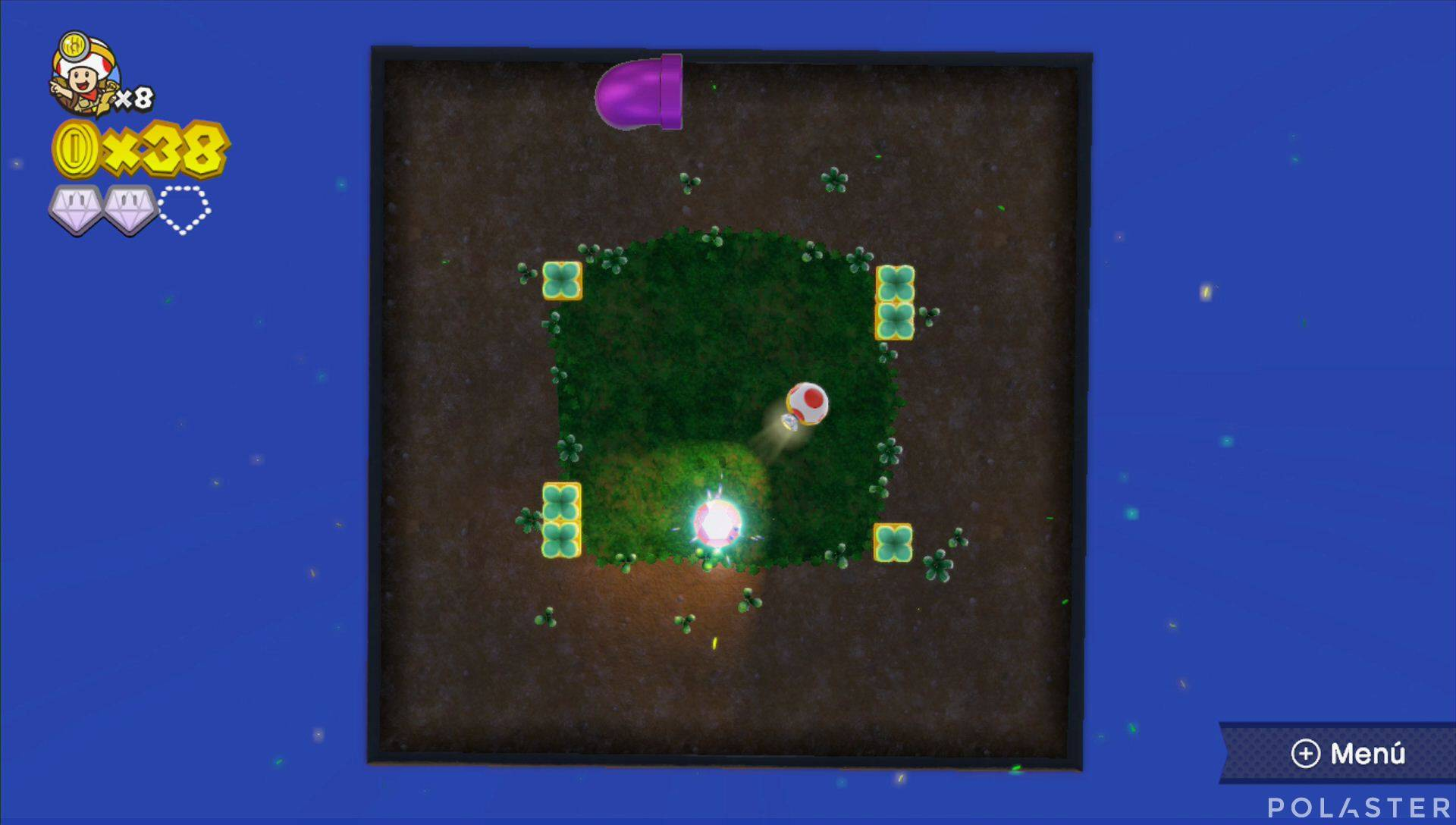 Captain Toad: Treasure Tracker Parte 1 Nivel 13 Superdiamante 3