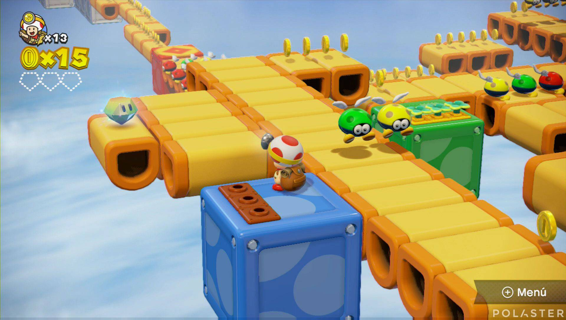 Captain Toad: Treasure Tracker Parte 1 Nivel 15 Superdiamante 1