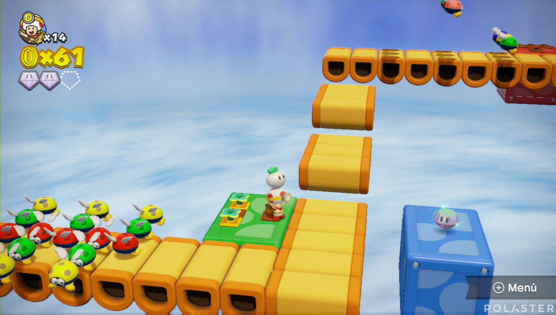 Captain Toad: Treasure Tracker Parte 1 Nivel 15 Superdiamante 3