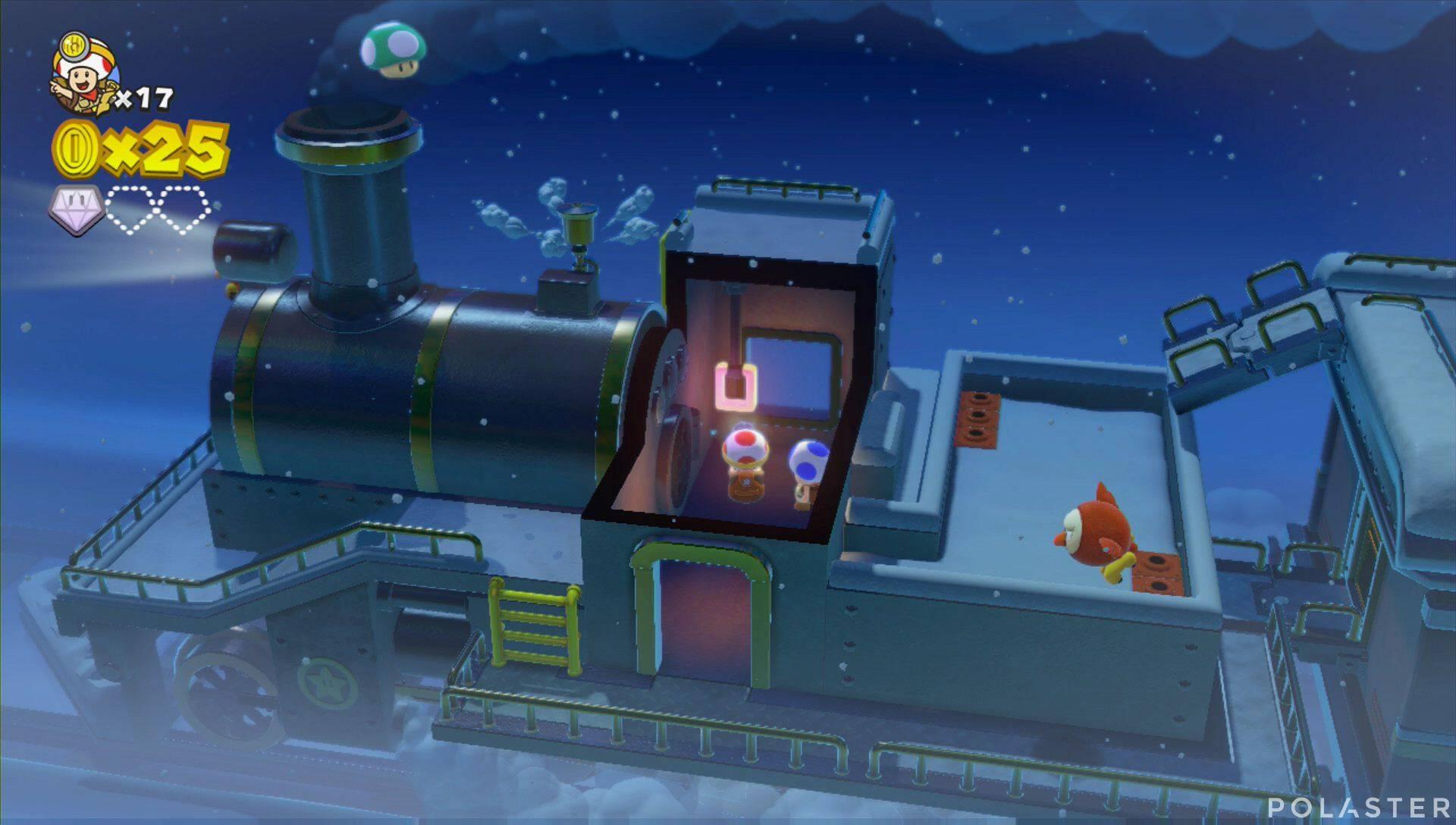 Captain Toad: Treasure Tracker Parte 1 Nivel 17 Champiñón Vida Extra