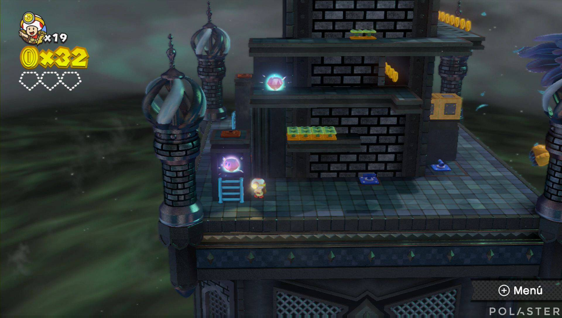 Captain Toad: Treasure Tracker Parte 1 Nivel 18 Superdiamante 1