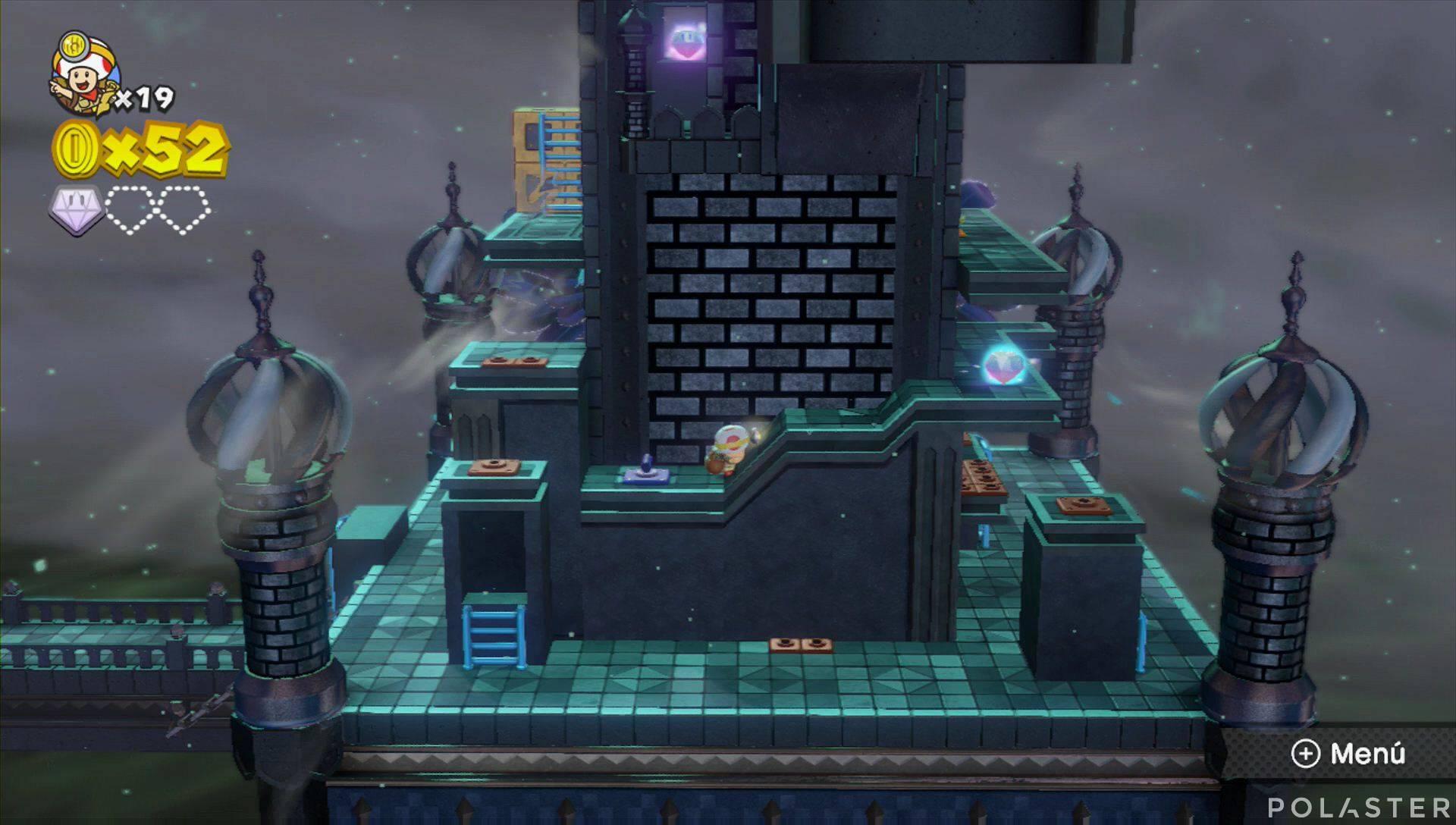 Captain Toad: Treasure Tracker Parte 1 Nivel 18 Superdiamante 2