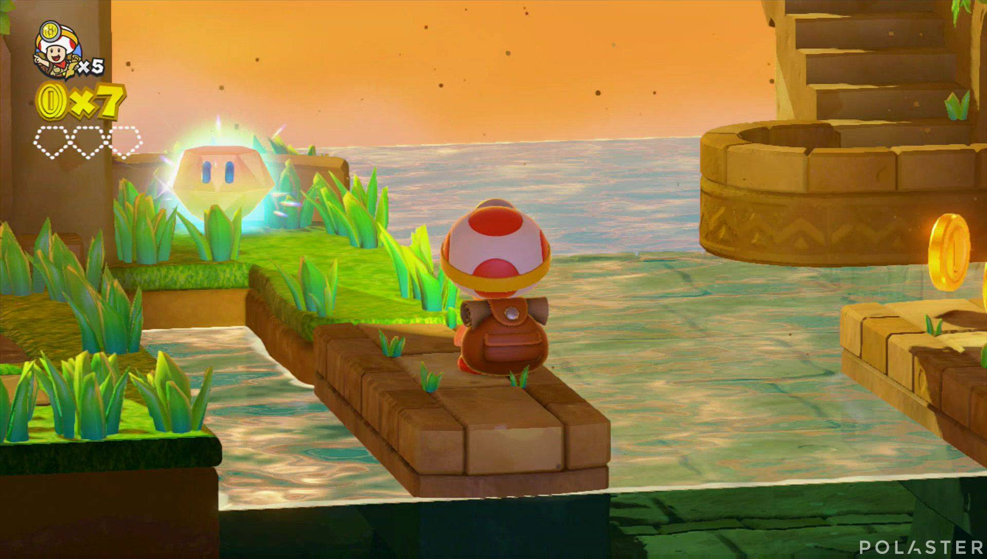 Captain Toad: Treasure Tracker Parte 1 Nivel 2 Superdiamante 1