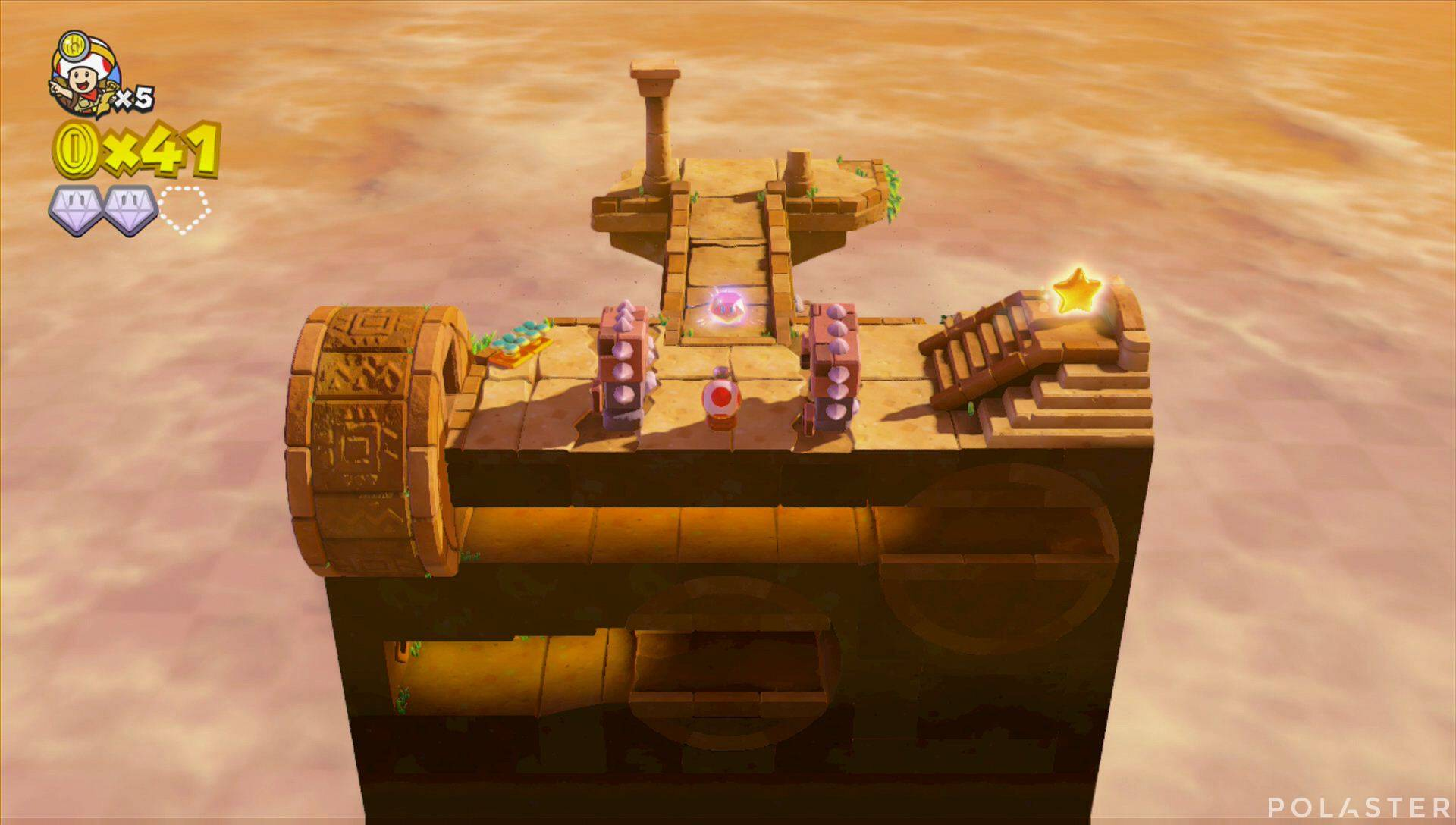 Captain Toad: Treasure Tracker Parte 1 Nivel 2 Superdiamante 3
