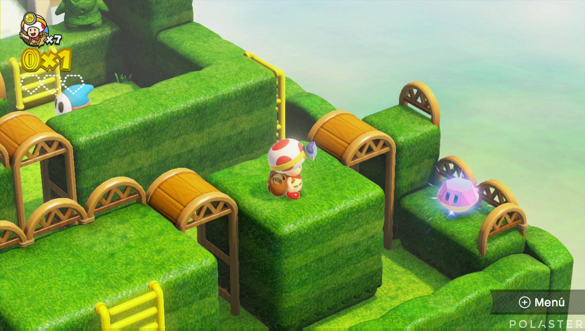 Captain Toad: Treasure Tracker Parte 1 Nivel 6 Superdiamante 1
