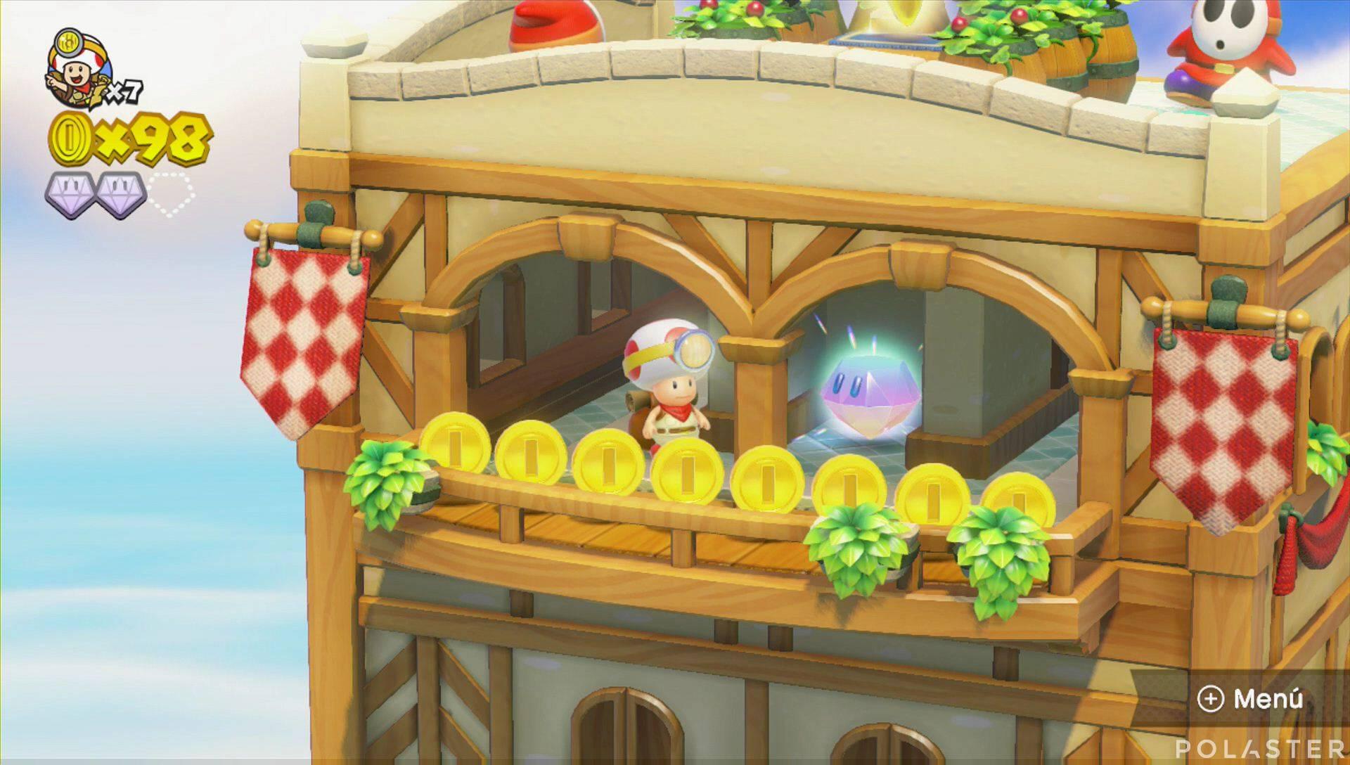 Captain Toad: Treasure Tracker Parte 1 Nivel 6 Superdiamante 3