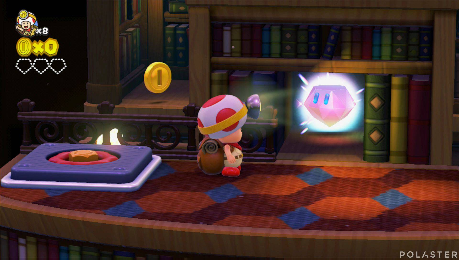 Captain Toad: Treasure Tracker Parte 1 Nivel 7 Superdiamante 1