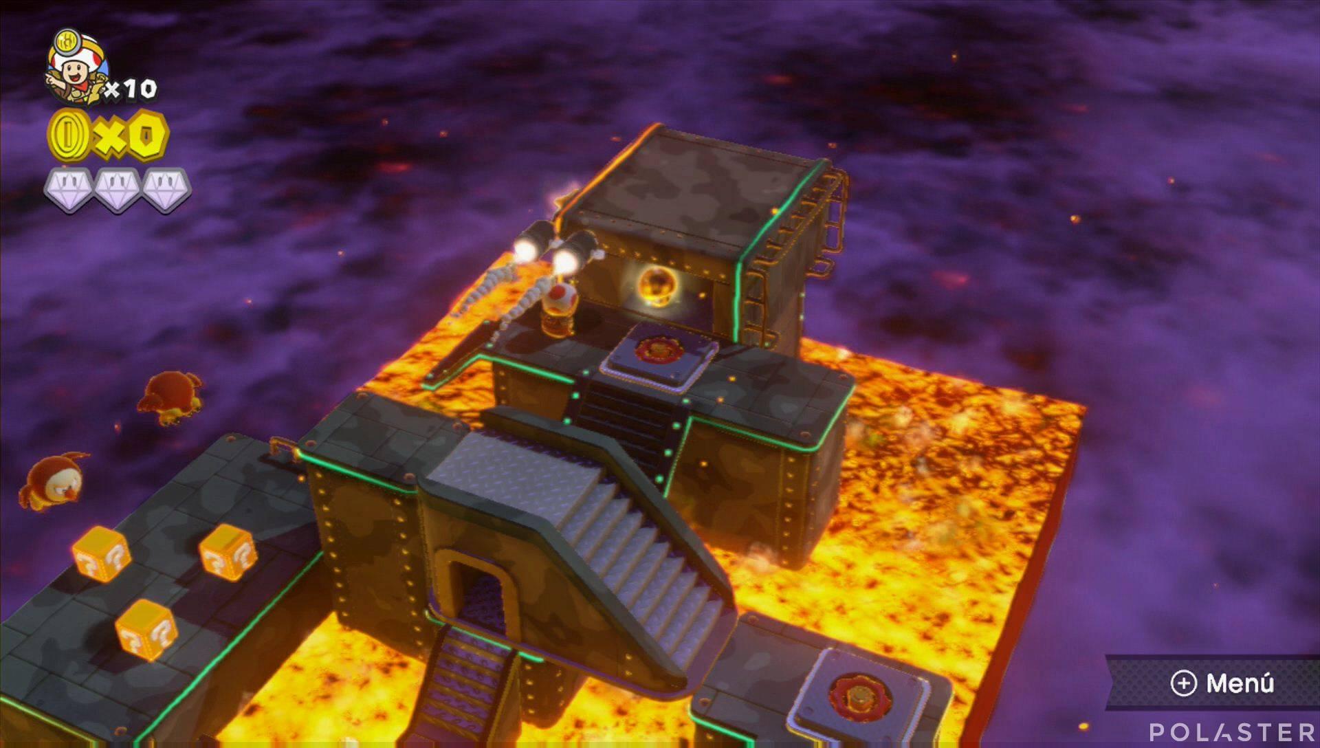 Captain Toad: Treasure Tracker Parte 1 Nivel 9 Champiñón dorado