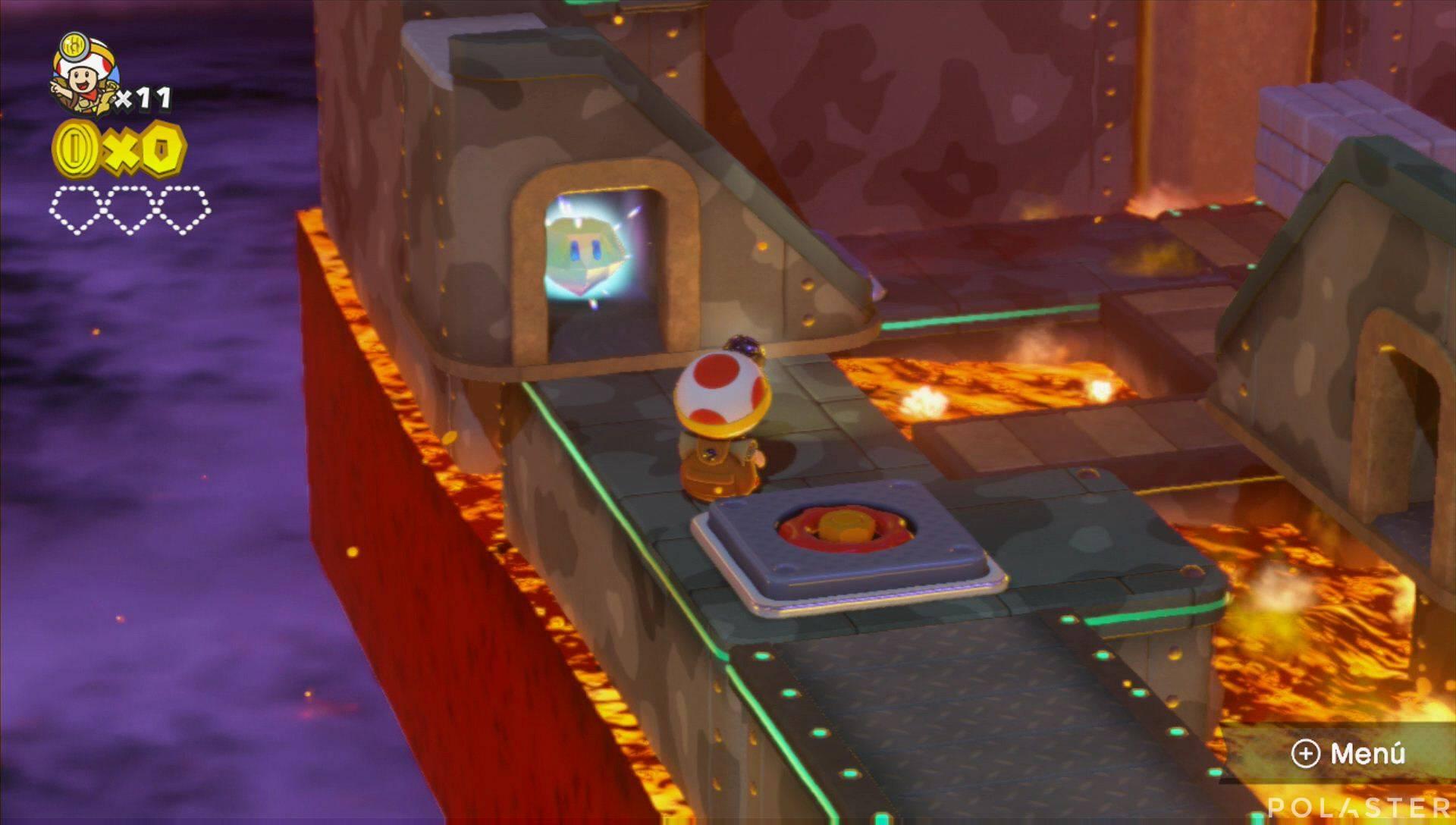 Captain Toad: Treasure Tracker Parte 1 Nivel 9 Superdiamante 1