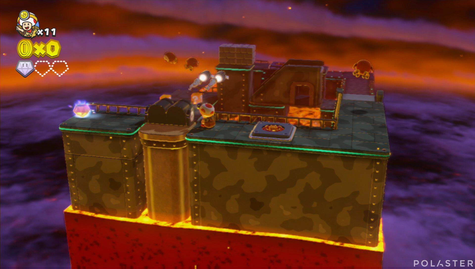 Captain Toad: Treasure Tracker Parte 1 Nivel 9 Superdiamante 2