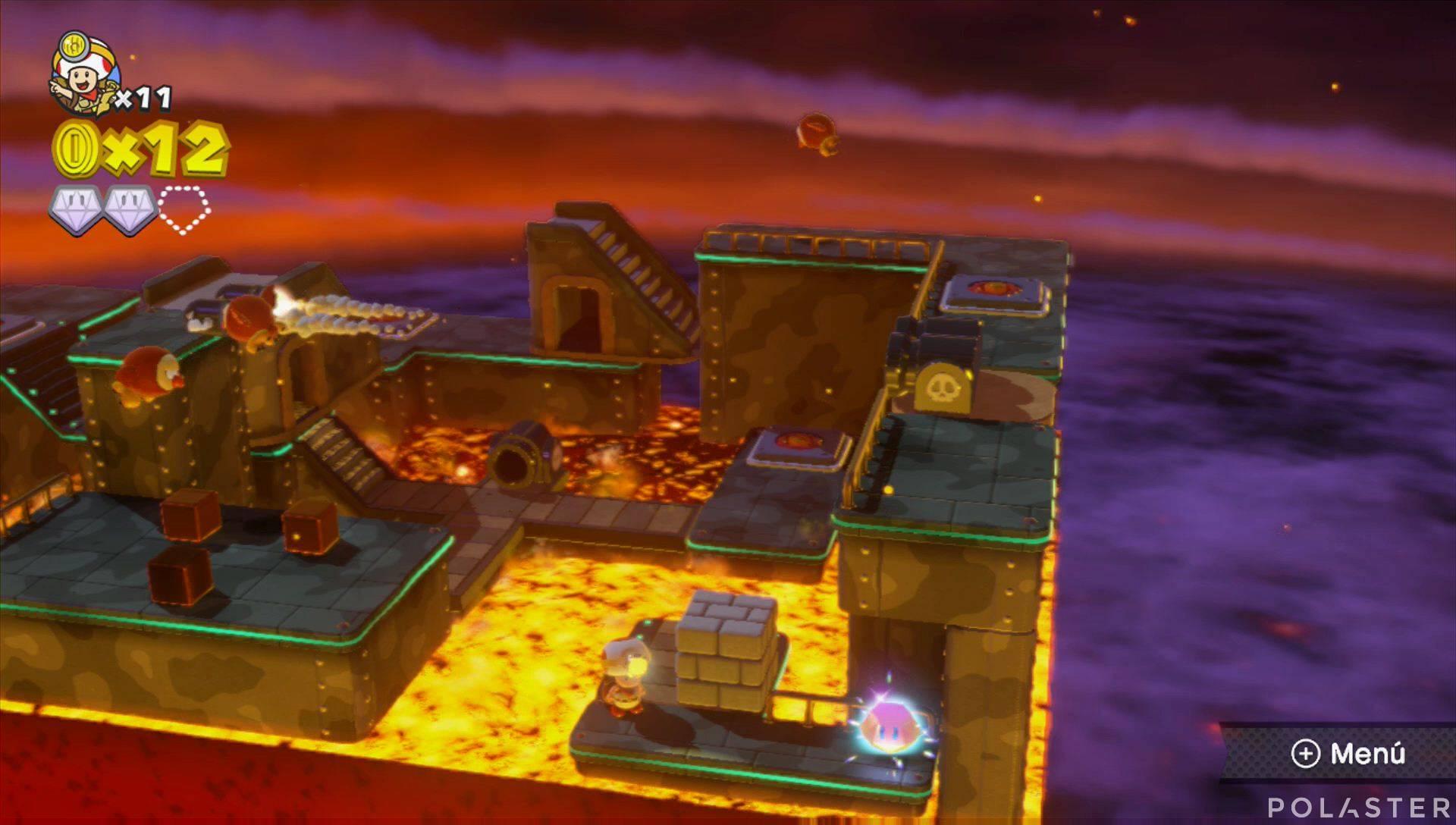 Captain Toad: Treasure Tracker Parte 1 Nivel 9 Superdiamante 3