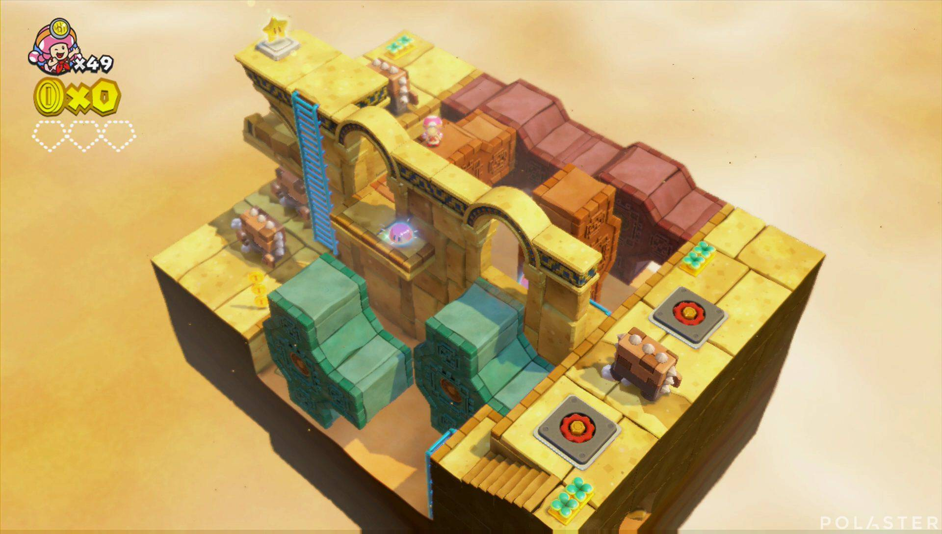 Captain Toad: Treasure Tracker Parte 2 Nivel 10 Superdiamante 1