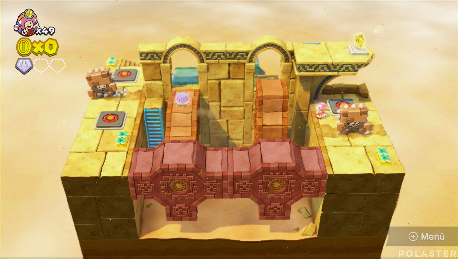 Captain Toad: Treasure Tracker Parte 2 Nivel 10 Superdiamante 2