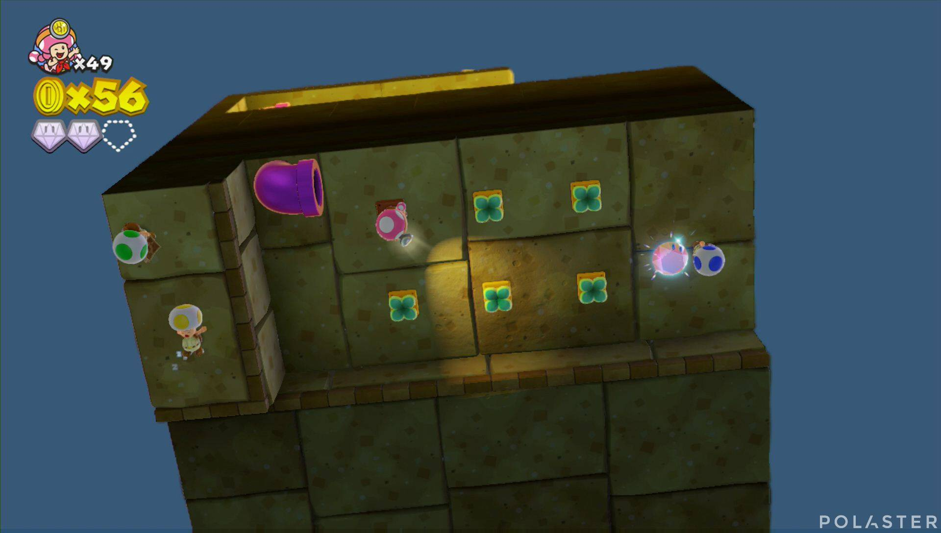 Captain Toad: Treasure Tracker Parte 2 Nivel 10 Superdiamante 3