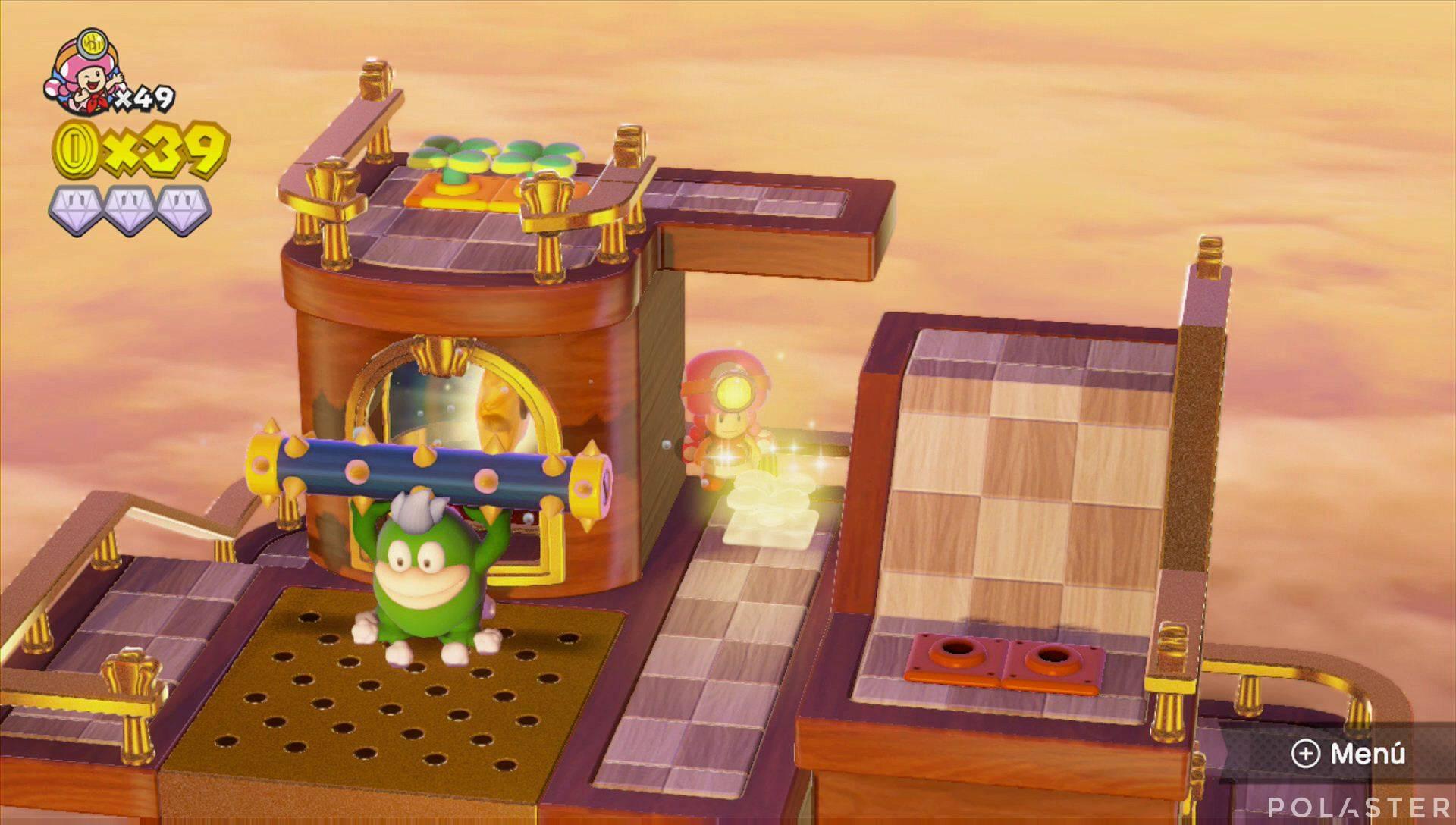 Captain Toad: Treasure Tracker Parte 2 Nivel 11 Champiñón dorado