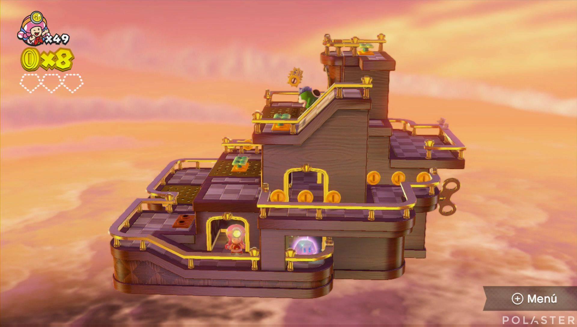 Captain Toad: Treasure Tracker Parte 2 Nivel 11 Superdiamante 1