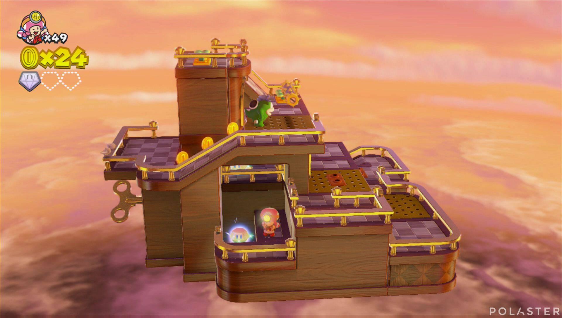 Captain Toad: Treasure Tracker Parte 2 Nivel 11 Superdiamante 2