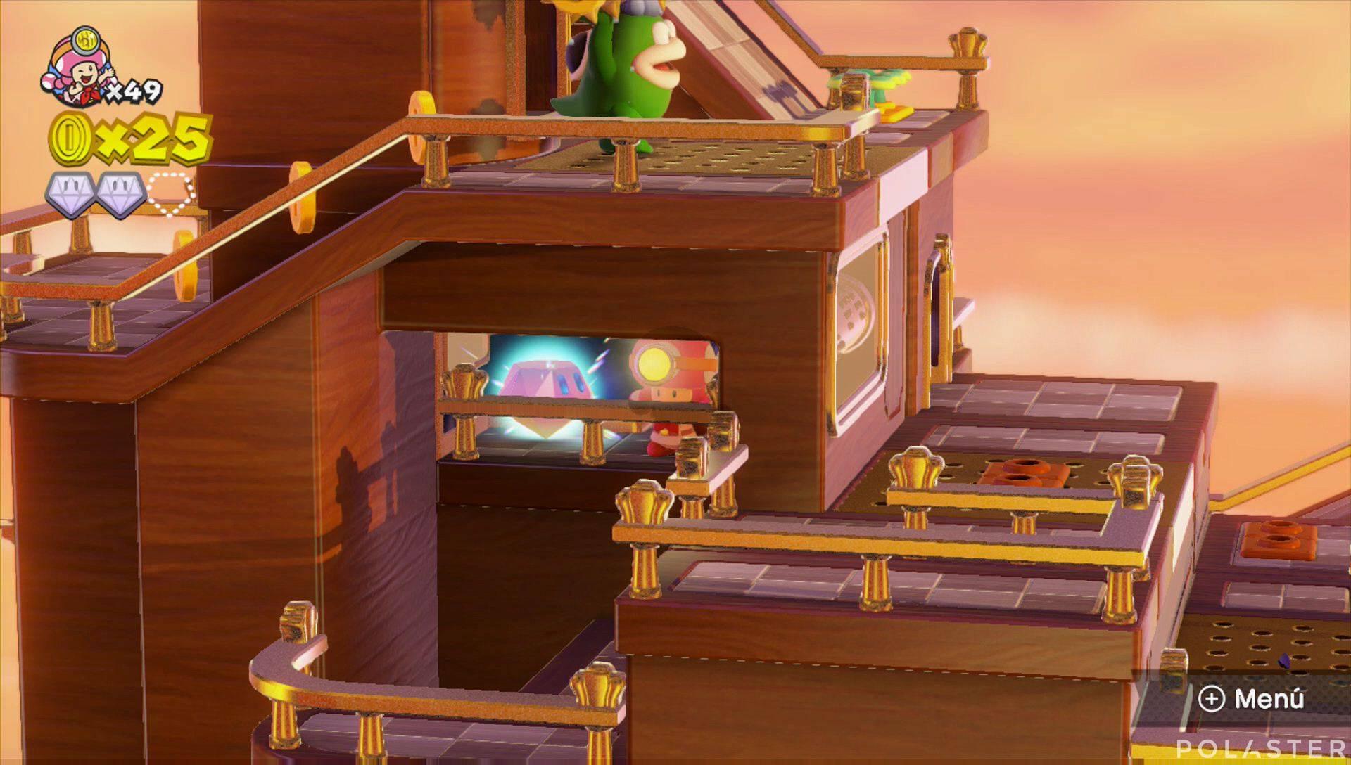 Captain Toad: Treasure Tracker Parte 2 Nivel 11 Superdiamante 3