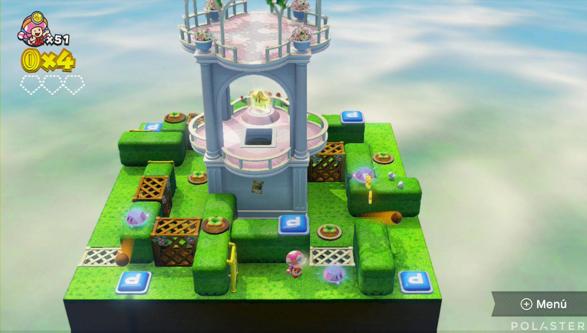 Captain Toad: Treasure Tracker Parte 2 Nivel 12 Superdiamante 1