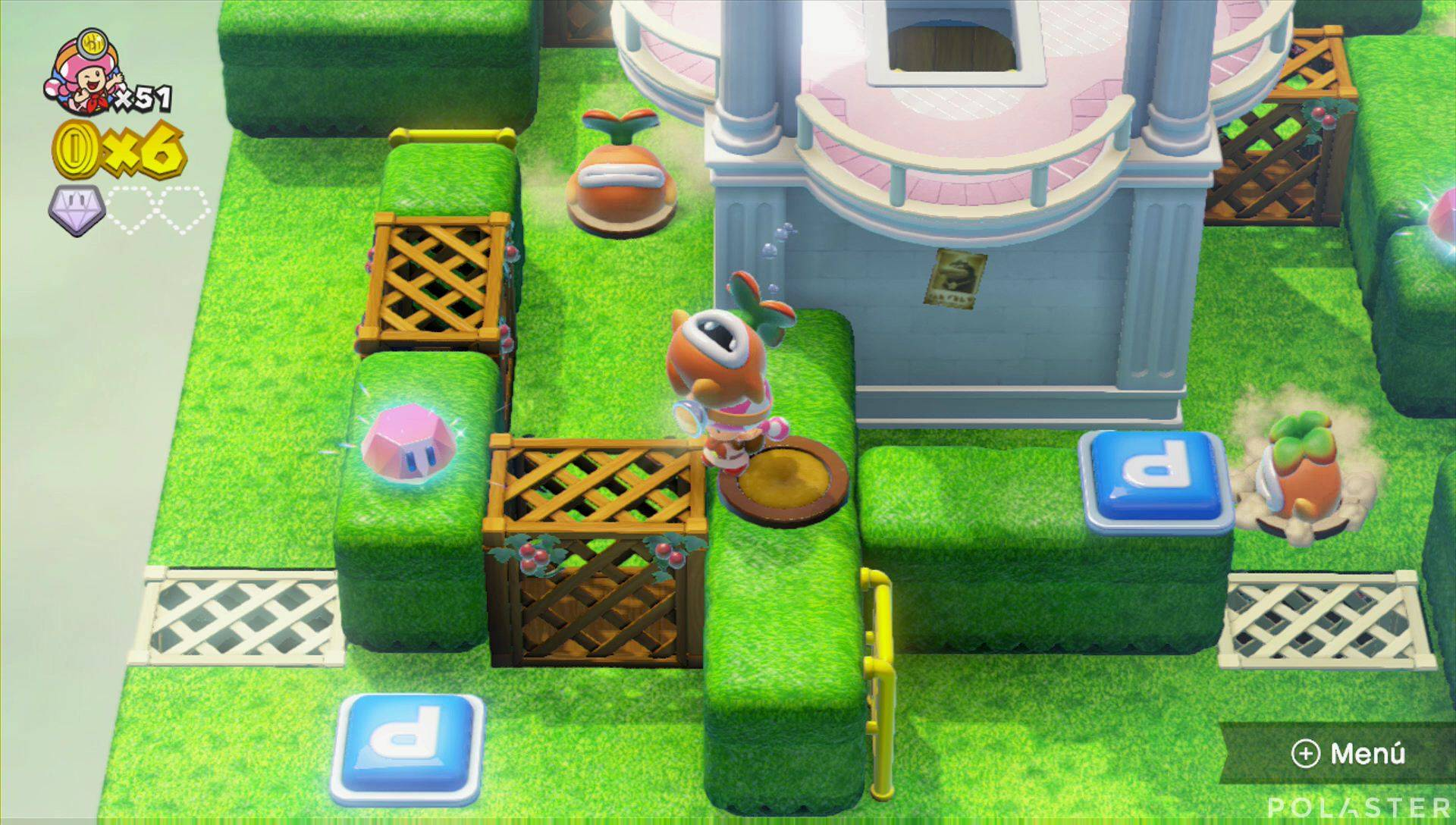Captain Toad: Treasure Tracker Parte 2 Nivel 12 Superdiamante 2
