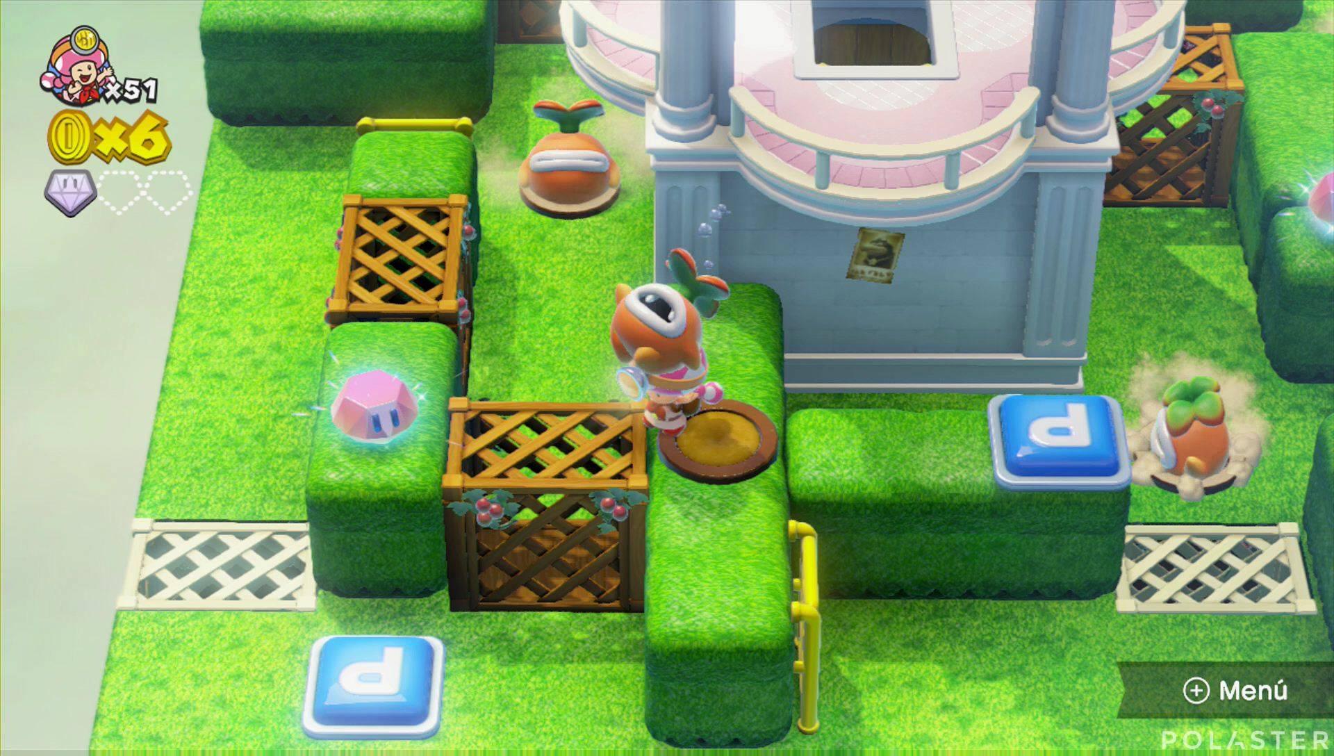 Captain Toad: Treasure Tracker Parte 2 Nivel 12 Superdiamante 2