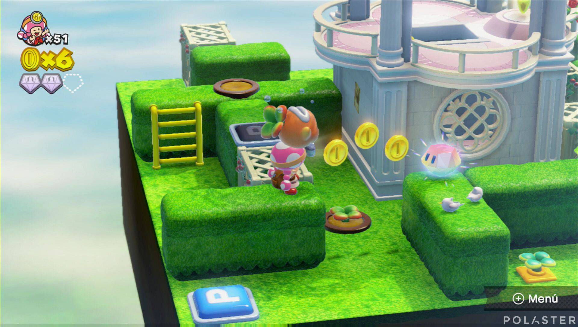 Captain Toad: Treasure Tracker Parte 2 Nivel 12 Superdiamante 3