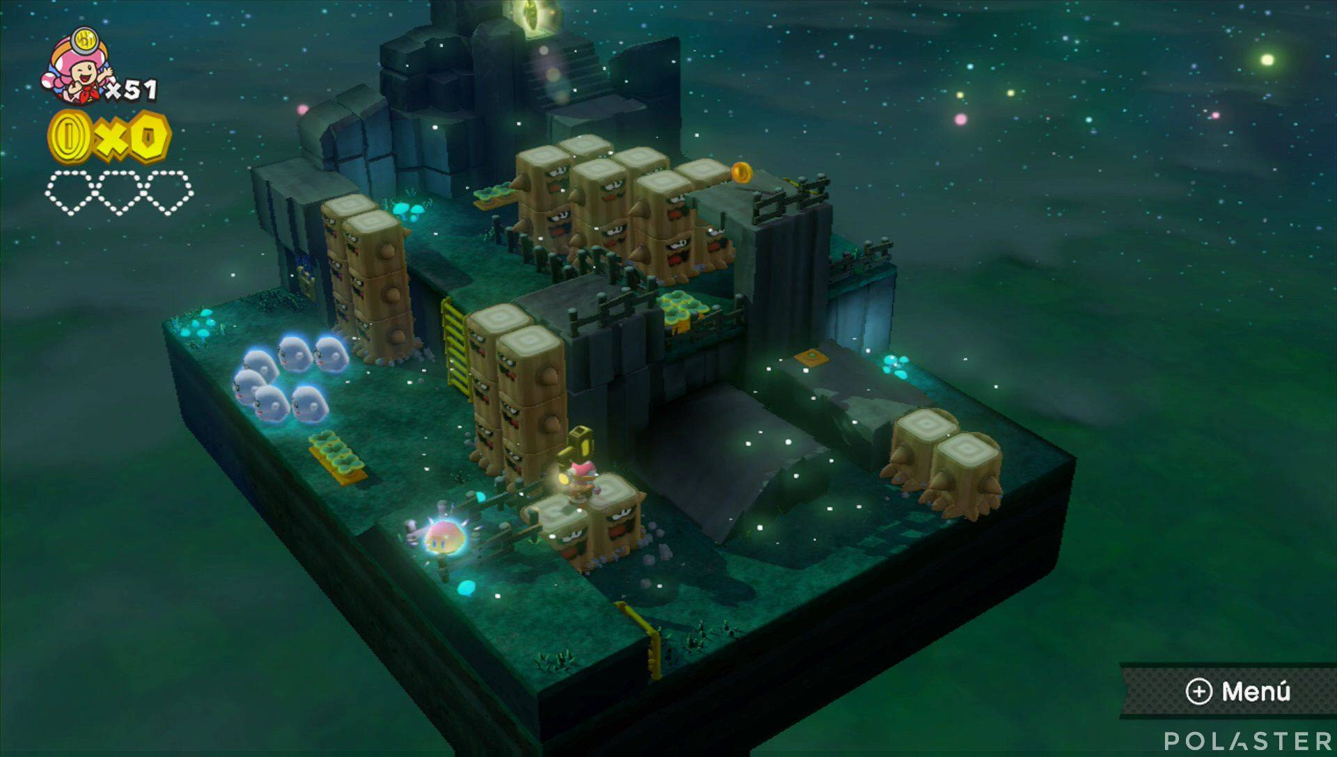Captain Toad: Treasure Tracker Parte 2 Nivel 14 Superdiamante 1