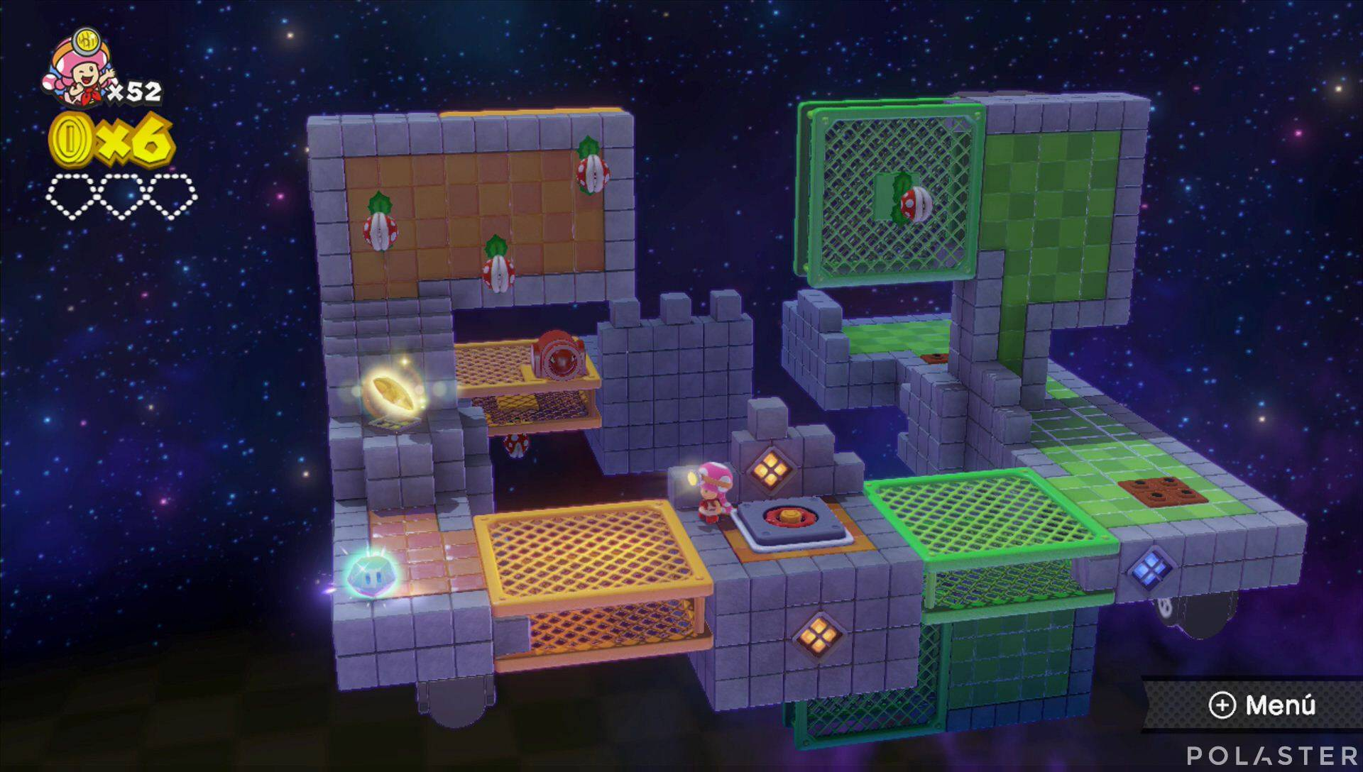 Captain Toad: Treasure Tracker Parte 2 Nivel 17 Superdiamante 1
