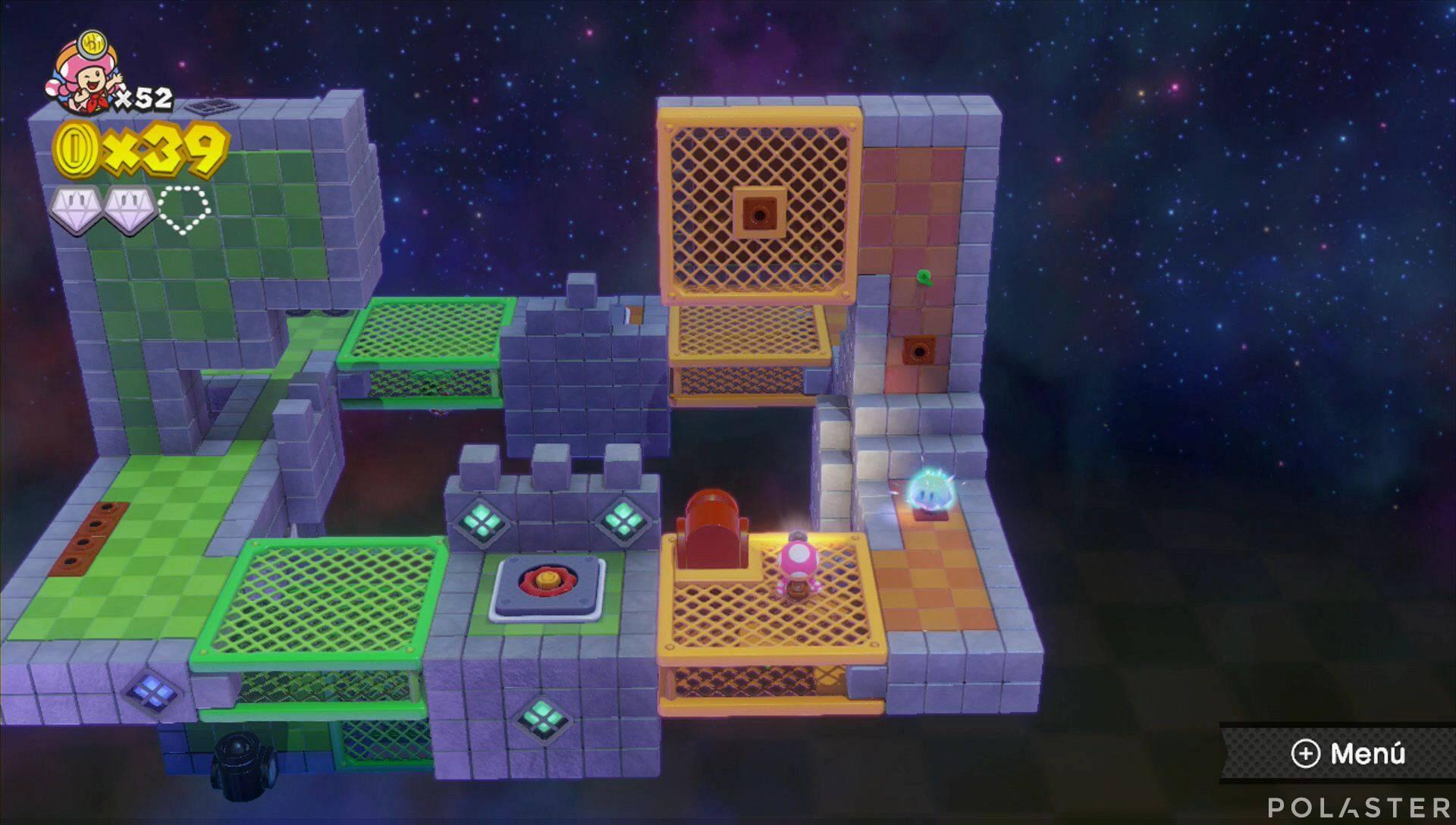 Captain Toad: Treasure Tracker Parte 2 Nivel 17 Superdiamante 3