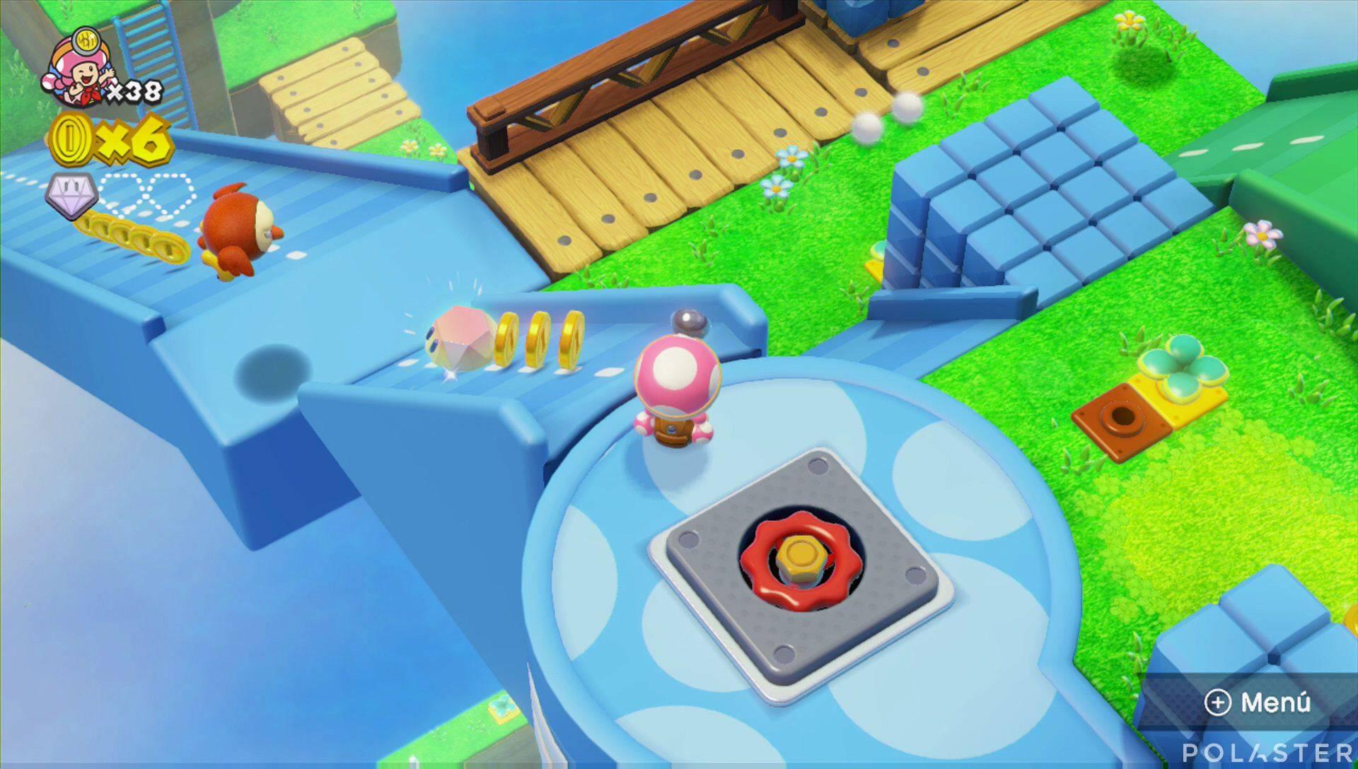Captain Toad: Treasure Tracker Parte 2 Nivel 1 Superdiamante 2