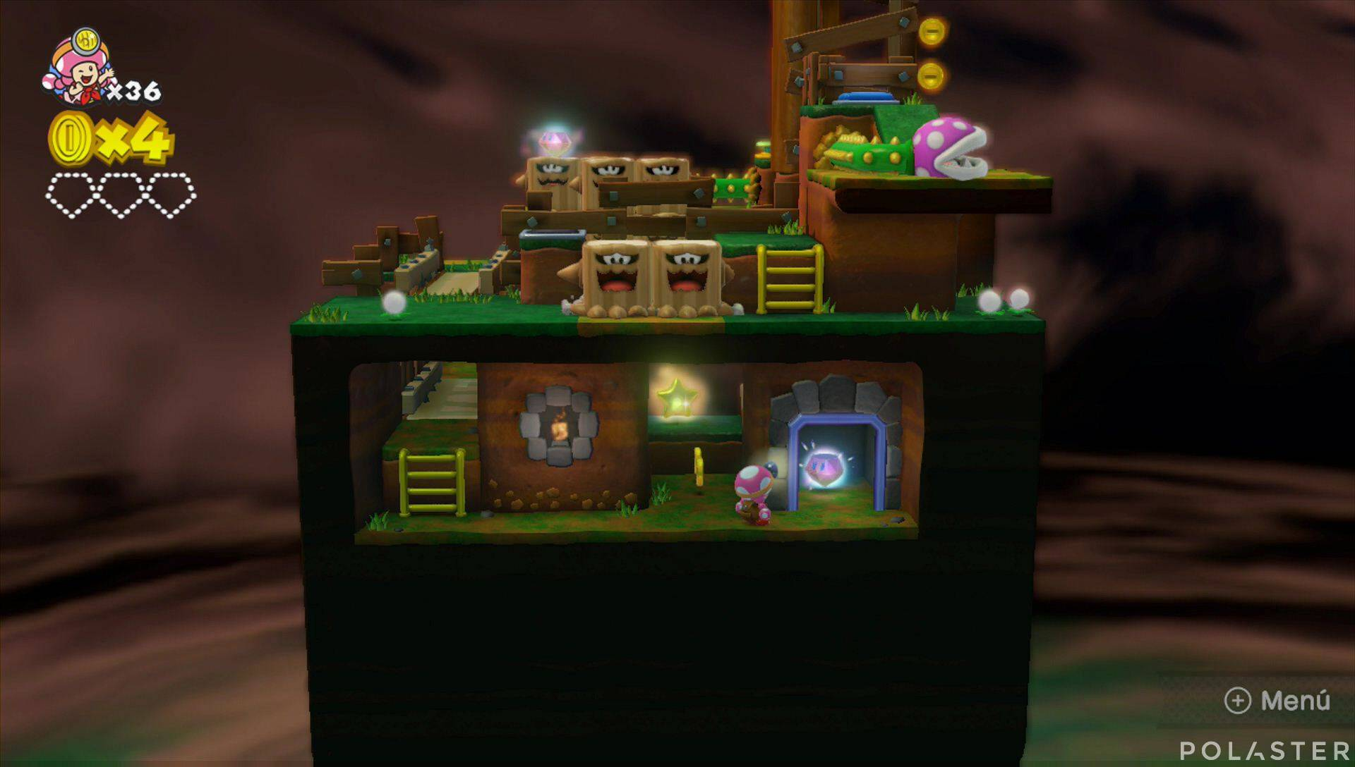 Captain Toad: Treasure Tracker Parte 2 Nivel 2 Superdiamante 1