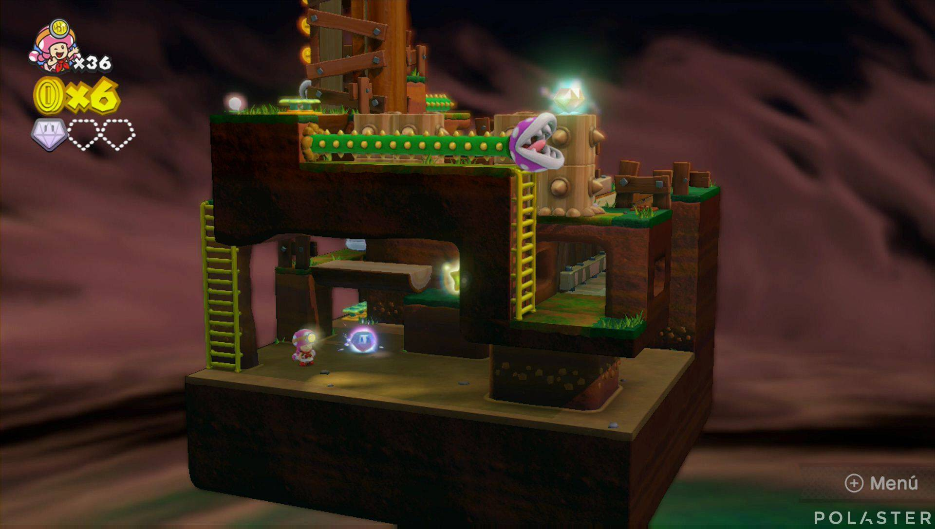 Captain Toad: Treasure Tracker Parte 2 Nivel 2 Superdiamante 2