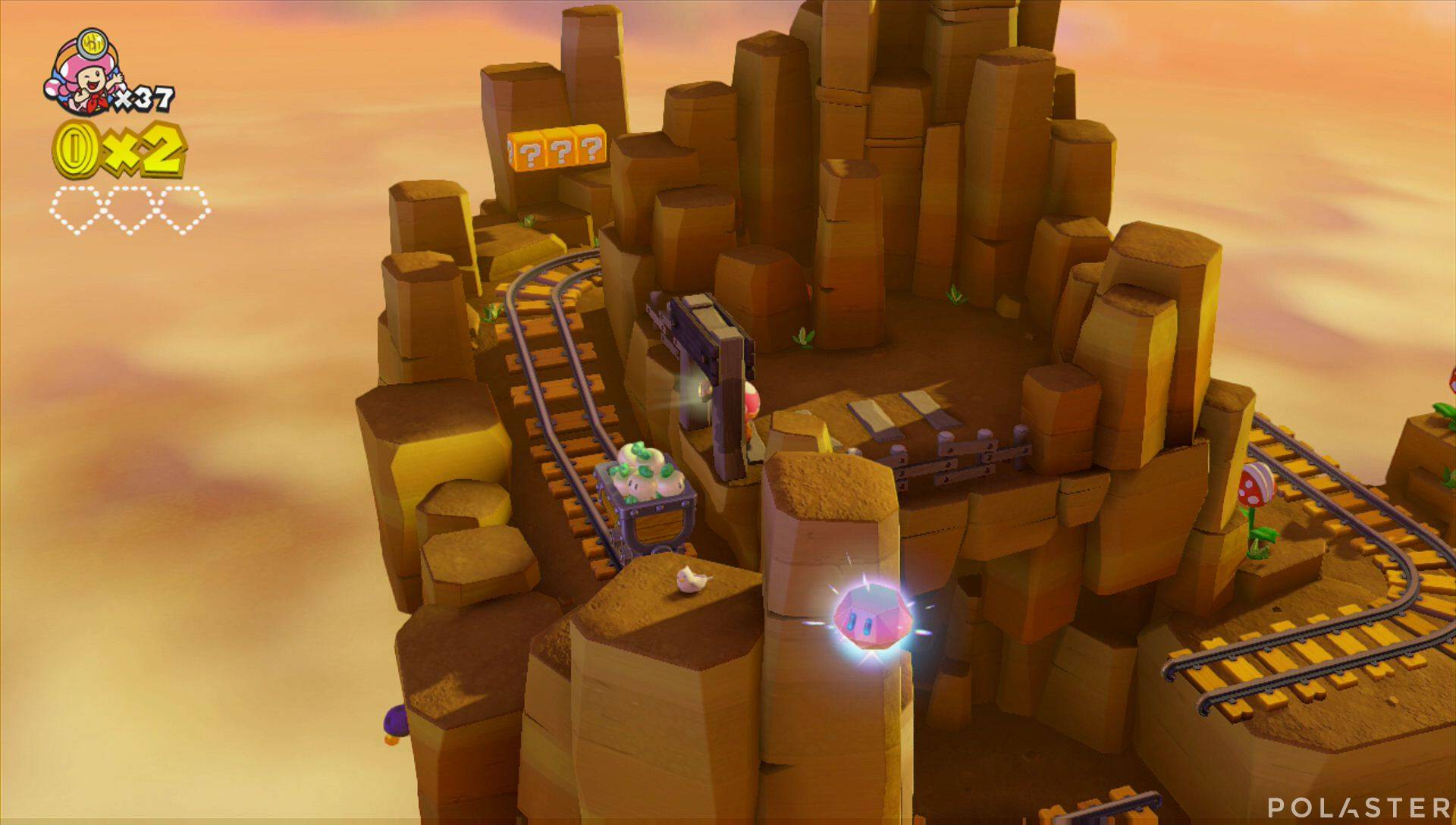 Captain Toad: Treasure Tracker Parte 2 Nivel 3 Superdiamante 1