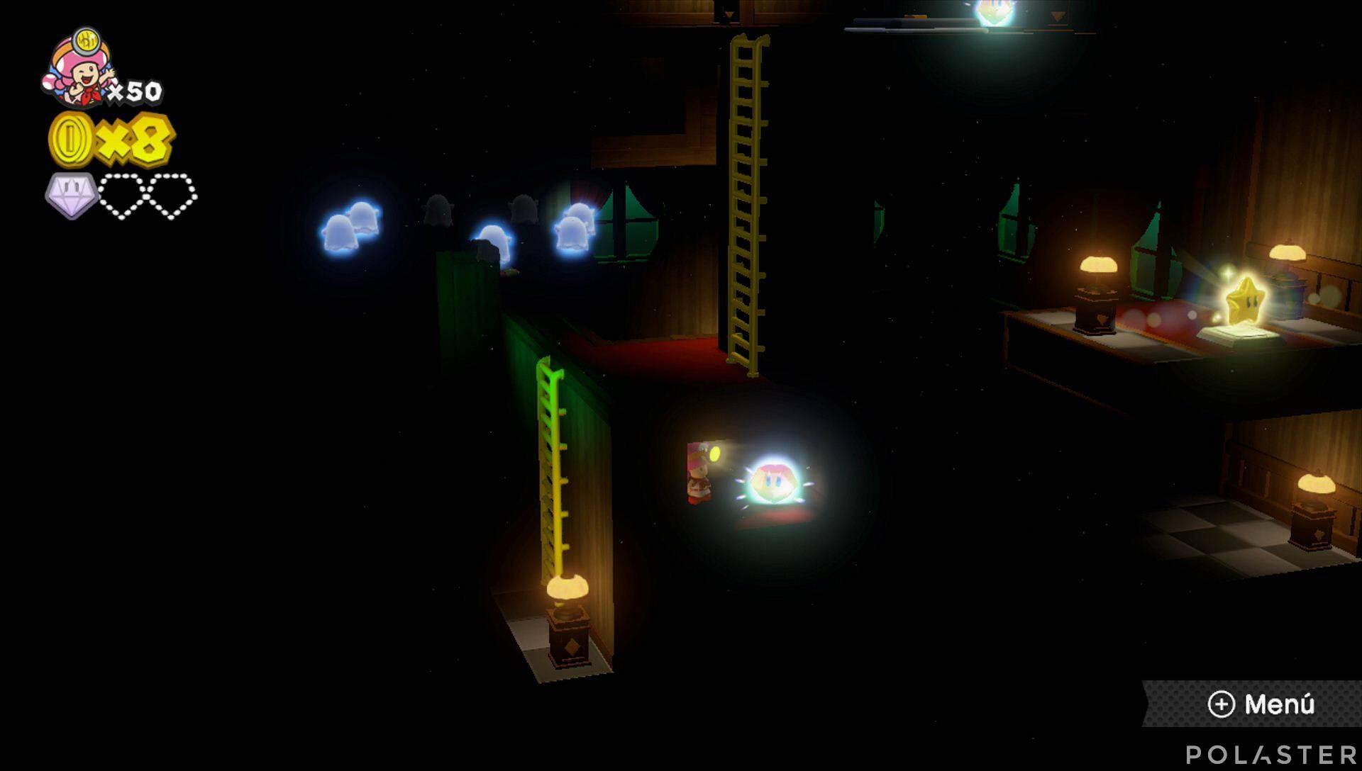 Captain Toad: Treasure Tracker Parte 2 Nivel 8 Superdiamante 2