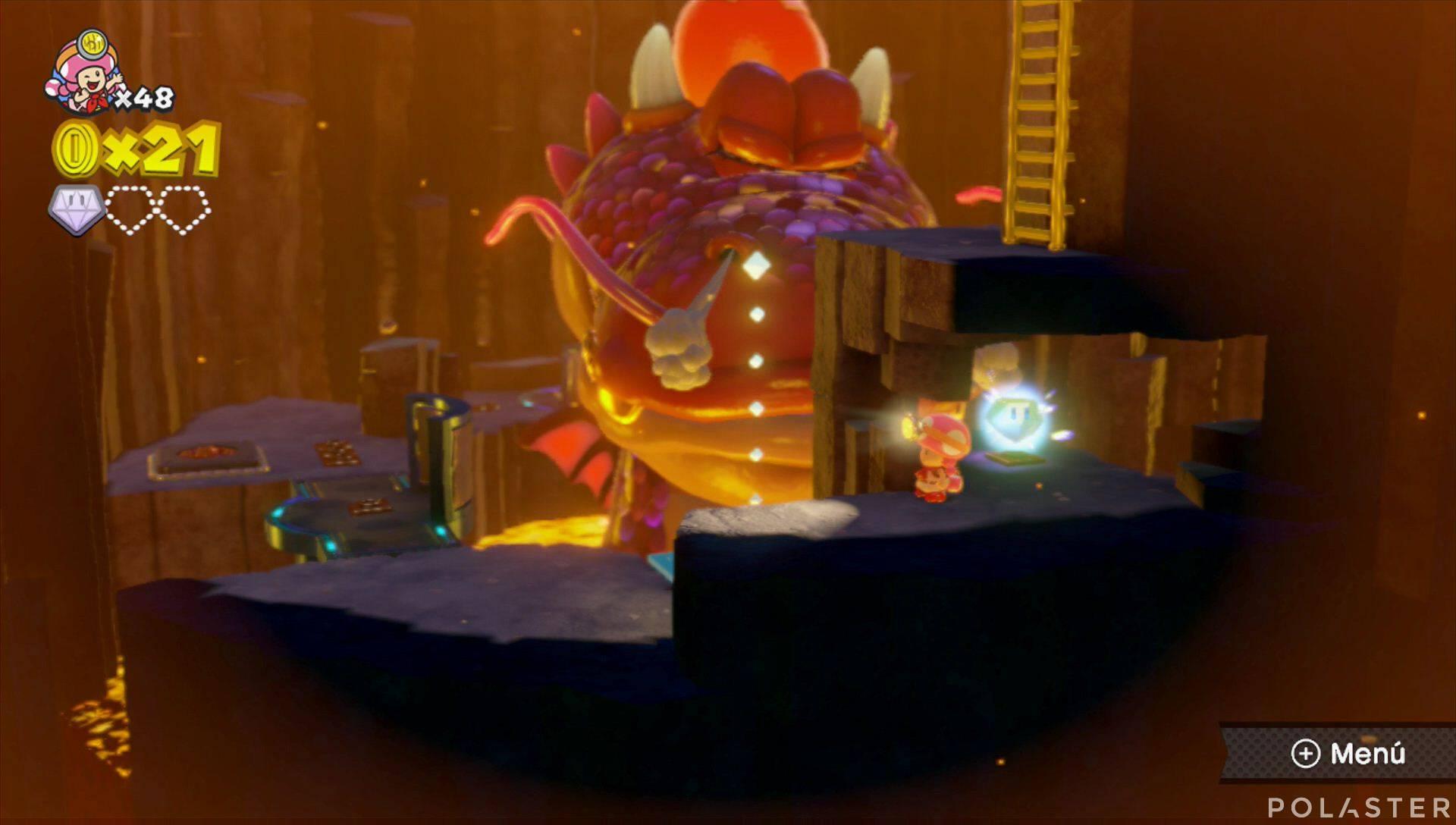 Captain Toad: Treasure Tracker Parte 2 Nivel 9 Superdiamante 2