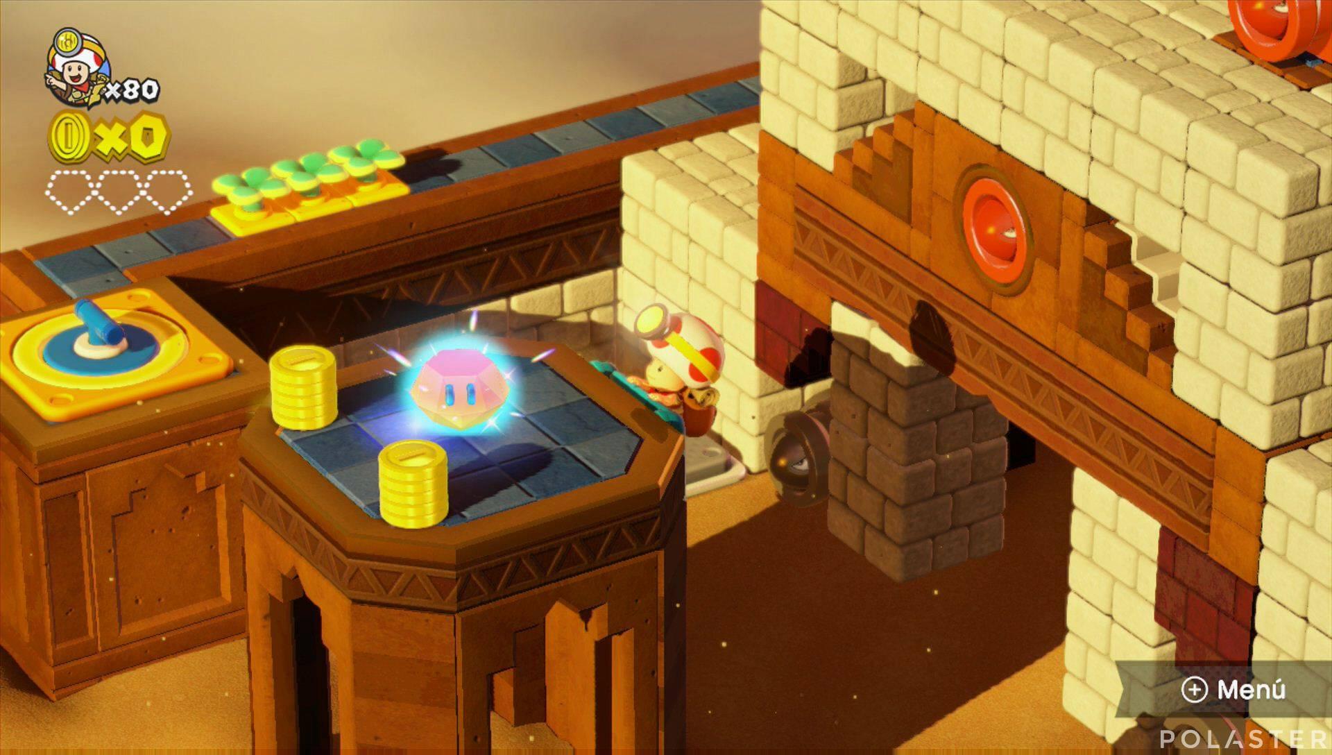 Captain Toad: Treasure Tracker Parte 3 Nivel 12 Superdiamante 1