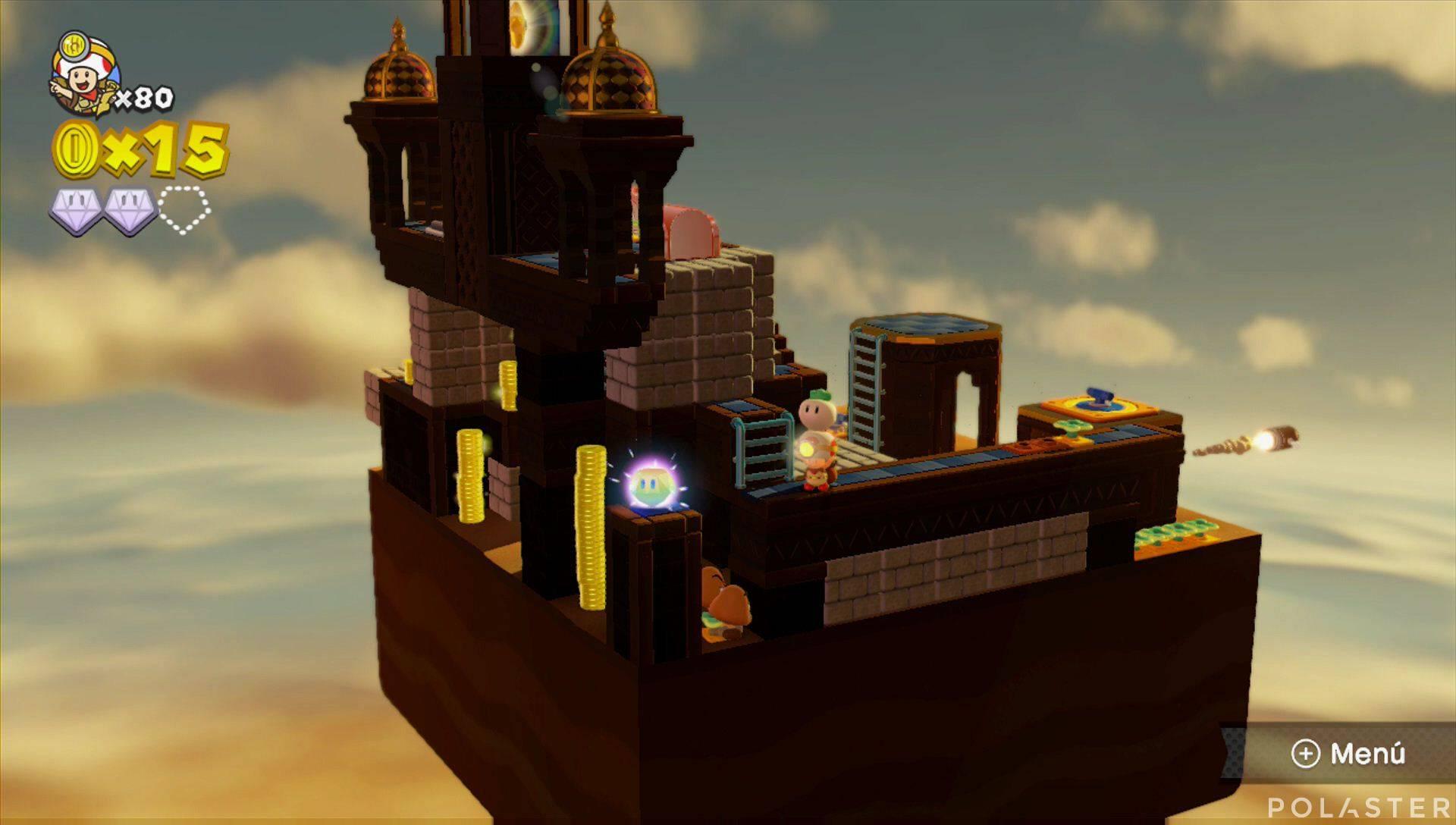 Captain Toad: Treasure Tracker Parte 3 Nivel 12 Superdiamante 3