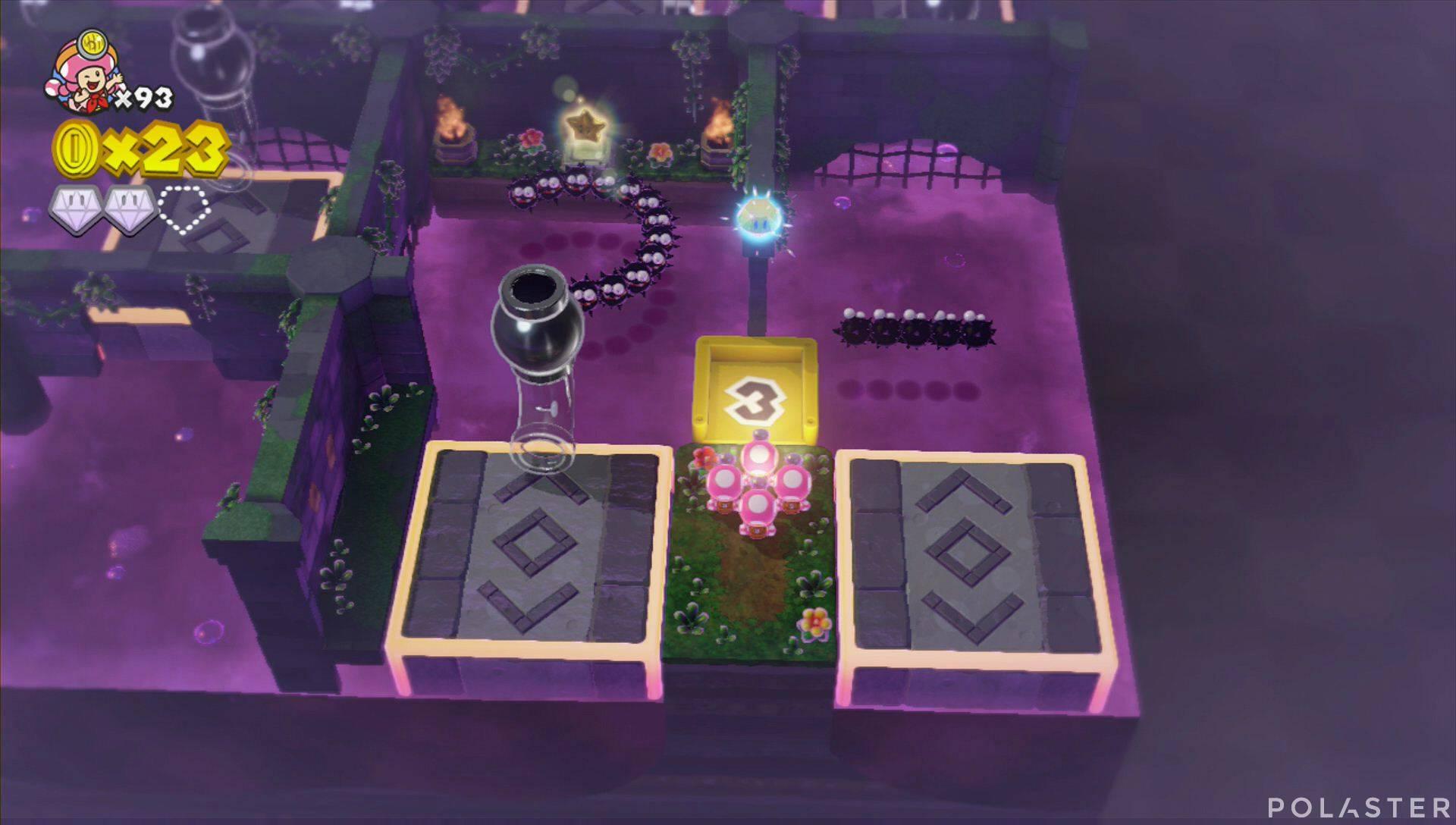Captain Toad: Treasure Tracker Parte 3 Nivel 16 Superdiamante 3