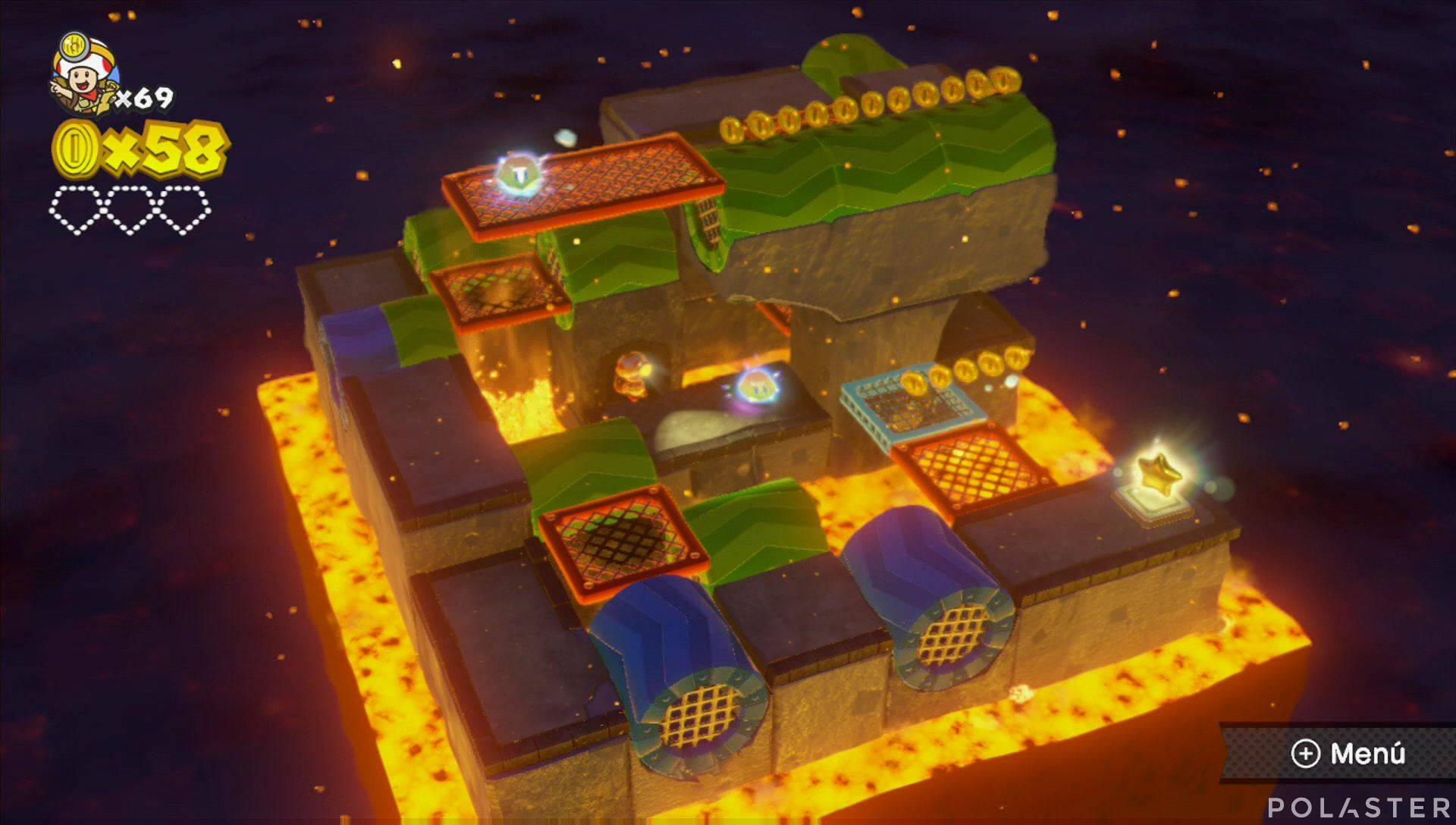 Captain Toad: Treasure Tracker Parte 3 Nivel 1 Superdiamante 1
