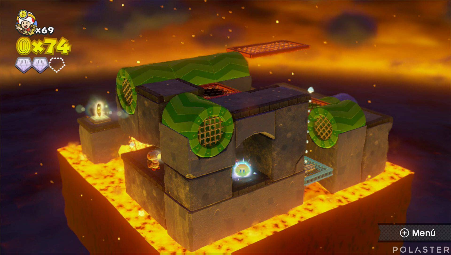 Captain Toad: Treasure Tracker Parte 3 Nivel 1 Superdiamante 3