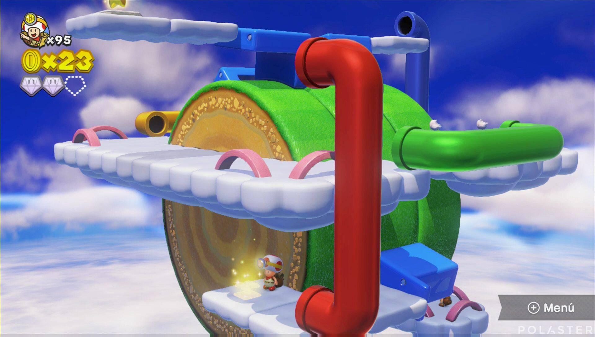 Captain Toad: Treasure Tracker Parte 3 Nivel 20 Champiñón dorado