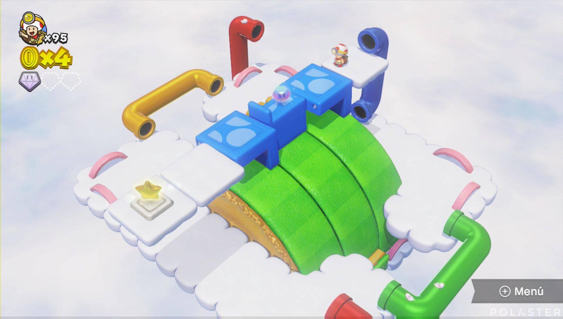 Captain Toad: Treasure Tracker Parte 3 Nivel 20 Superdiamante 2